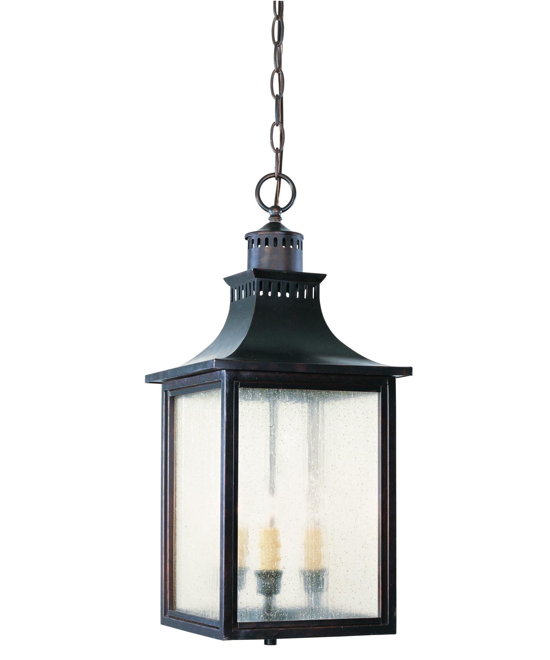 Outdoor Hanging Glass Lanterns Regarding Current Savoy House 5 256 Monte Grande 10 Inch Wide 3 Light Outdoor Hanging (View 18 of 20)