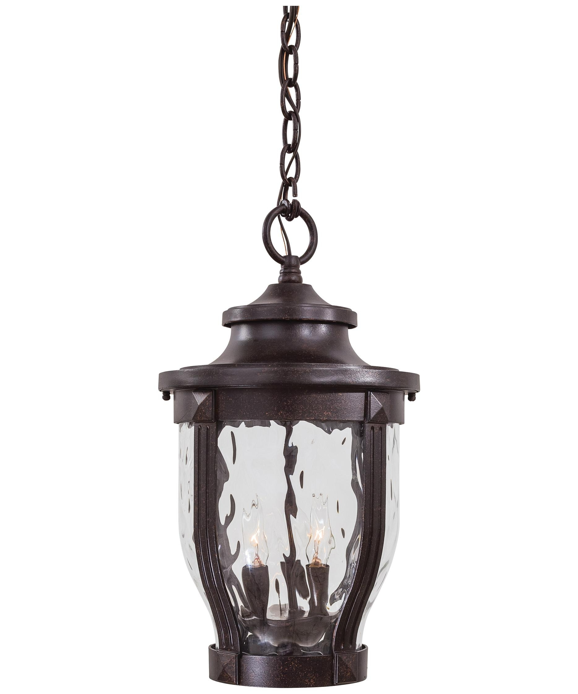 Outdoor Hanging Glass Lights With 2018 Minka Lavery 8764 Merrimack 10 Inch Wide 3 Light Outdoor Hanging (View 11 of 20)