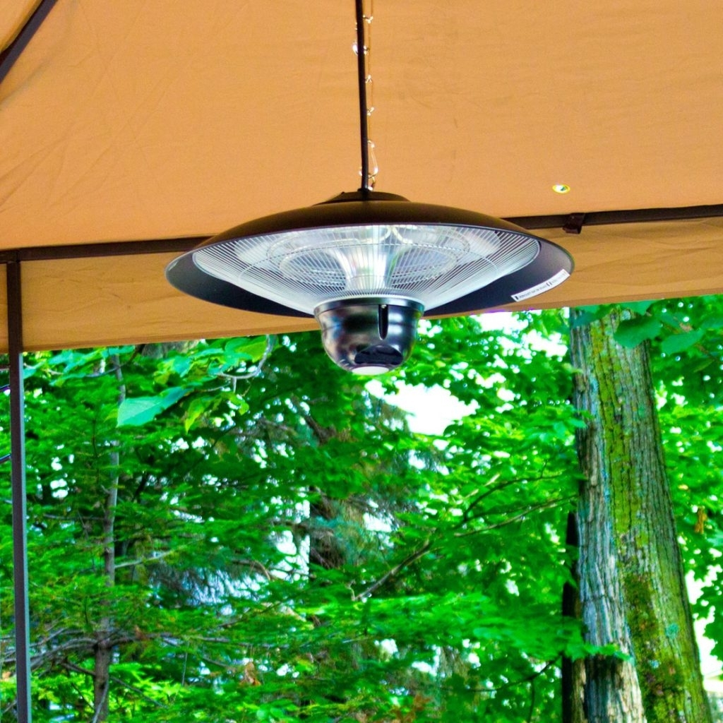 Outdoor Hanging Heat Lamps In Well Known Patio Ideas ~ Electric Patio Heater Infrared Outdoor Garden Hanging (View 11 of 20)