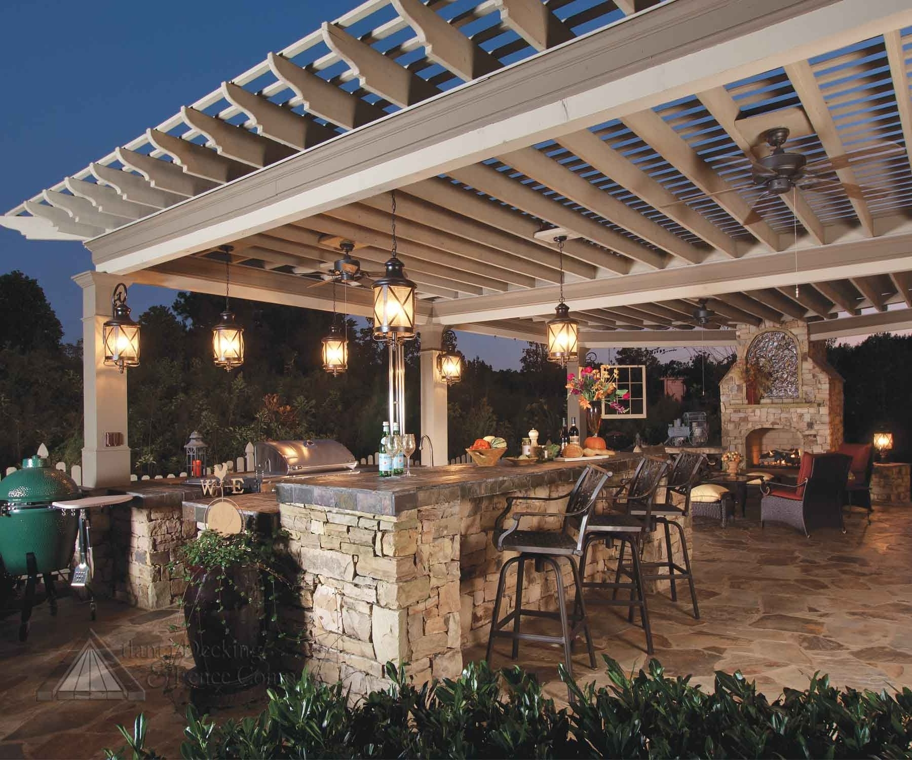 Outdoor Hanging Lantern Lights Regarding Well Known Gorgeous Outdoor Kitchen Lighting Fixtures On House Design Ideas (View 13 of 20)