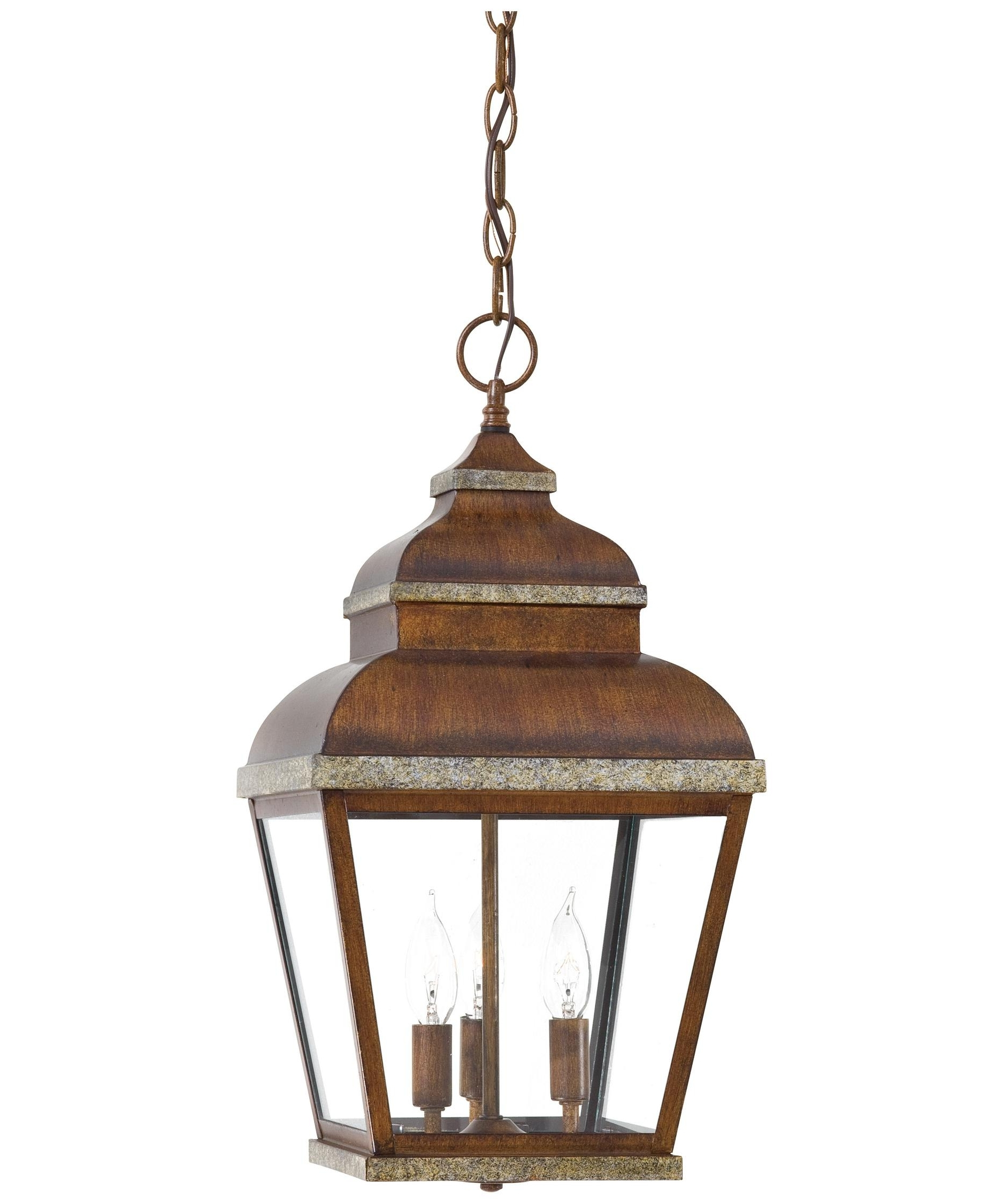 Outdoor Hanging Lanterns At Amazon In Favorite Minka Lavery 8264 Mossoro 10 Inch Wide 3 Light Outdoor Hanging (View 10 of 20)