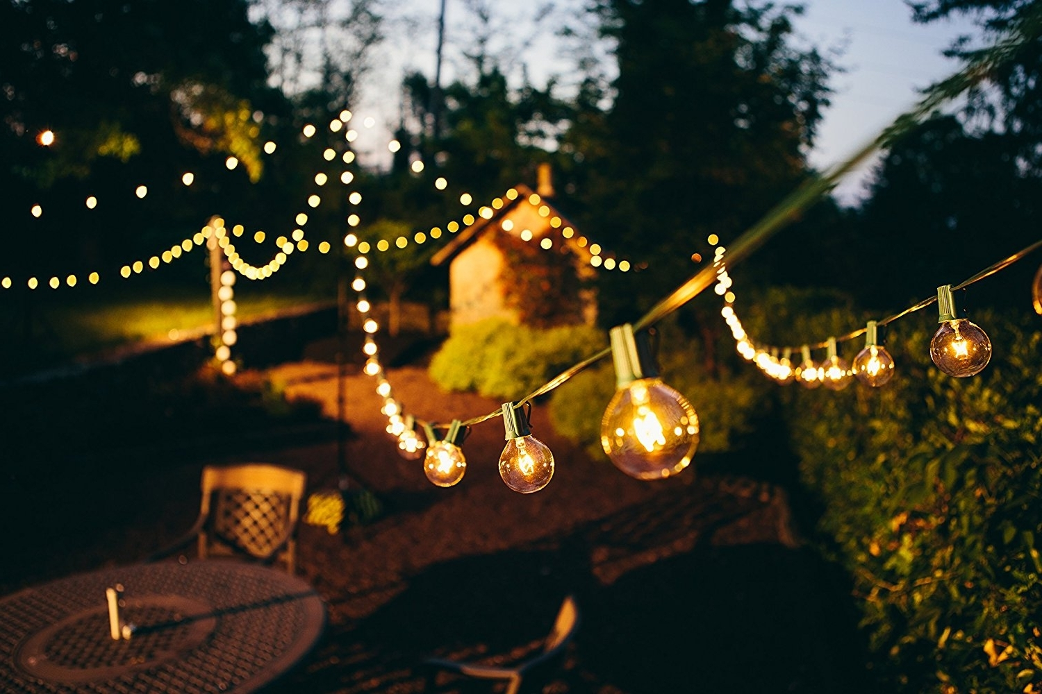 Outdoor Hanging Lanterns At Amazon Regarding Favorite Amazon: Brightech – Ambience – Outdoor String Lights With  (View 13 of 20)