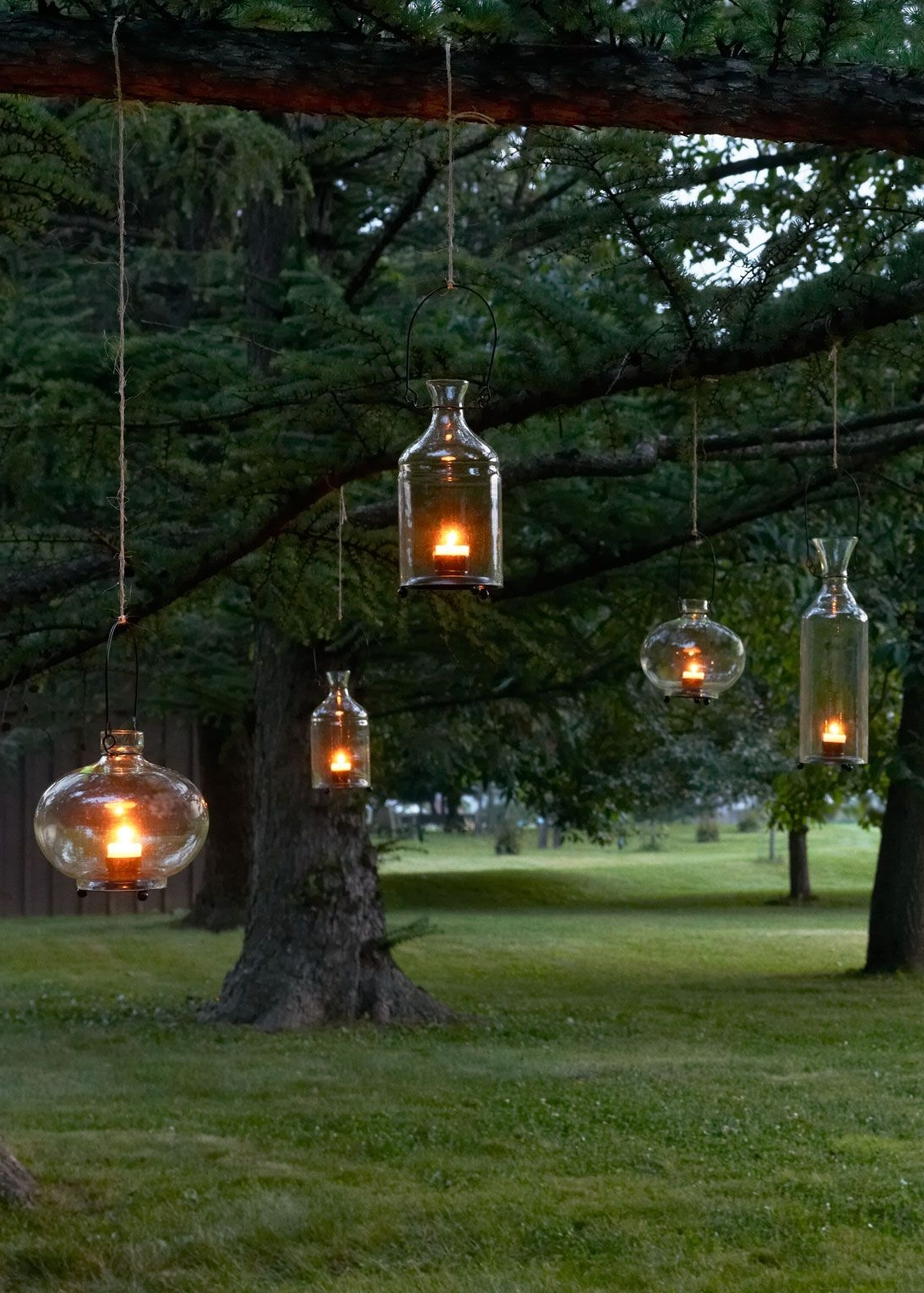 Outdoor Hanging Lanterns For Trees Inside Recent Warm Decor For Your Tabletop Or Garden – Recycled Glass Hanging (View 14 of 20)