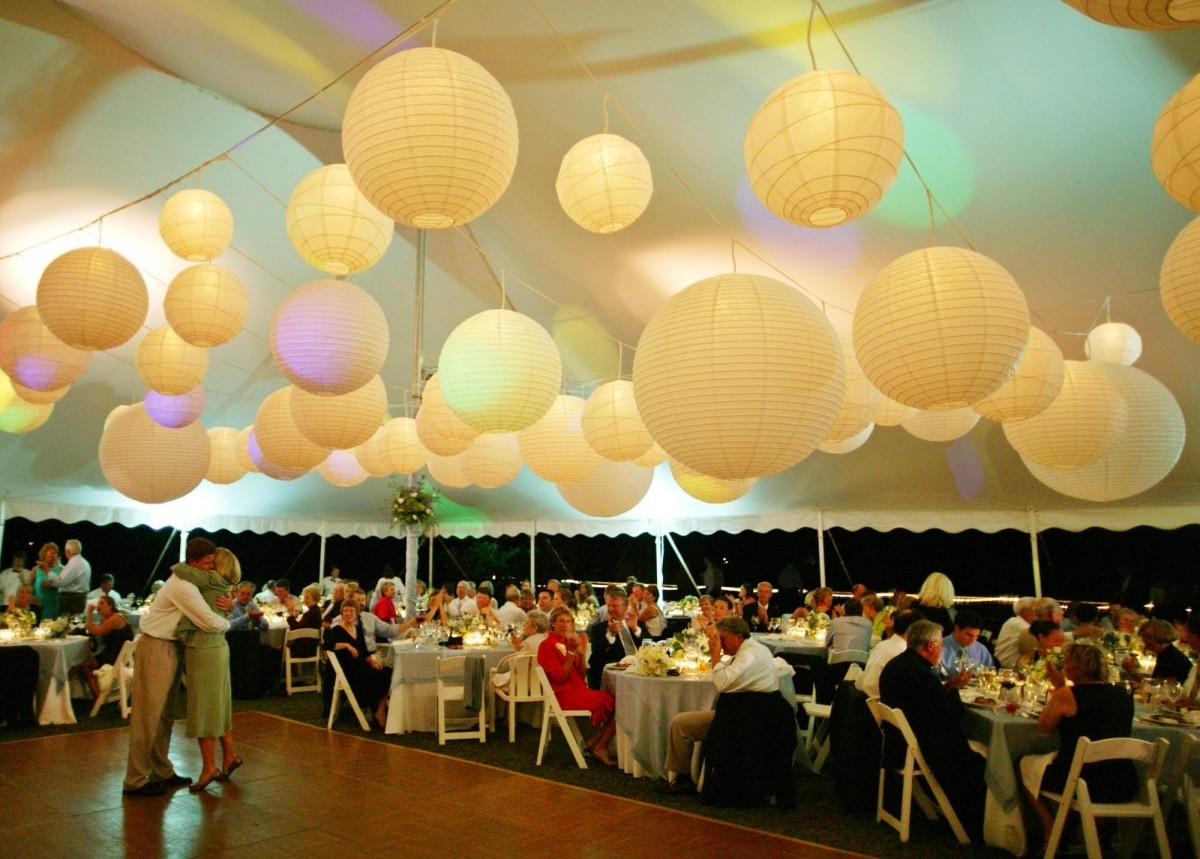 Outdoor Hanging Lanterns For Wedding Pertaining To Best And Newest Appealing Paper Lantern Lights Outdoor With Round White Paper (View 11 of 20)