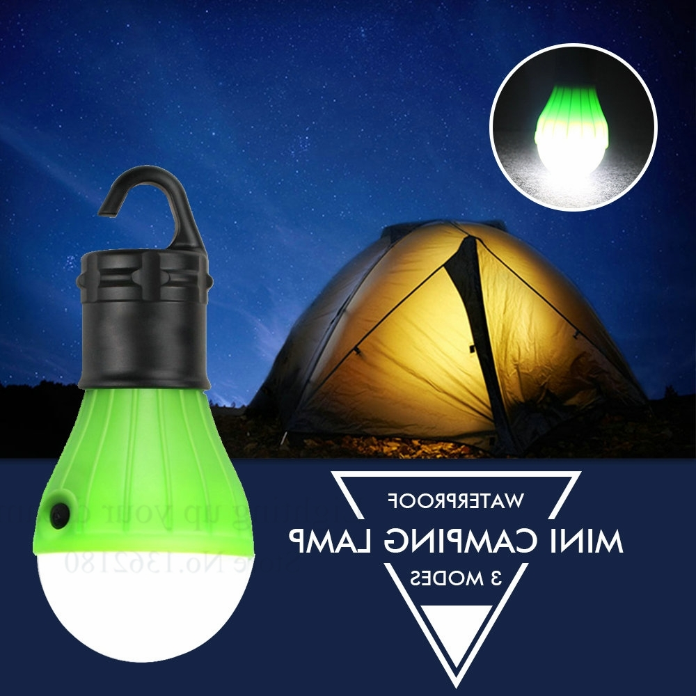 Outdoor Hanging Lanterns With Battery Operated Pertaining To 2018 Portable Outdoor Hanging Tent Camping Light Lantern,soft Night Light (View 10 of 20)