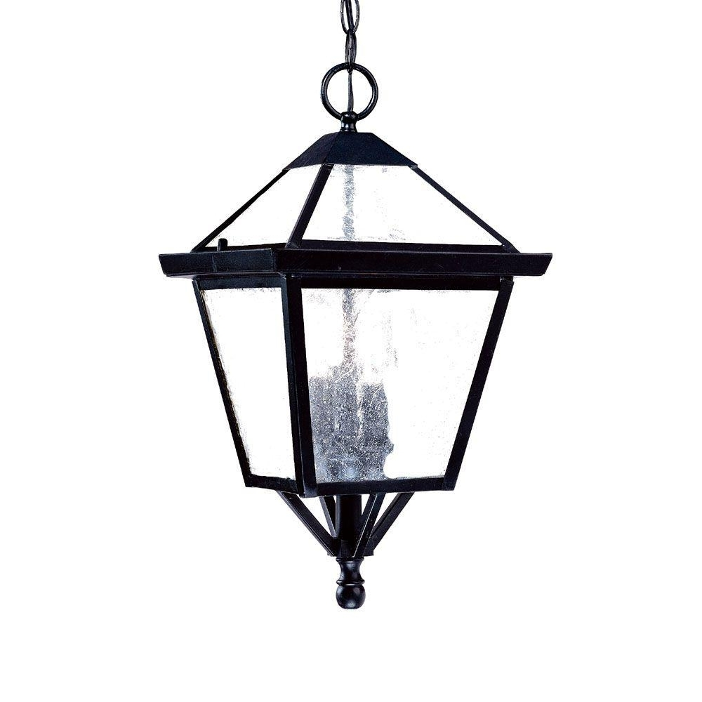 Outdoor Hanging Light Fixtures In Black Intended For Fashionable Acclaim Lighting Bay Street Collection 3 Light Matte Black Outdoor (View 19 of 20)