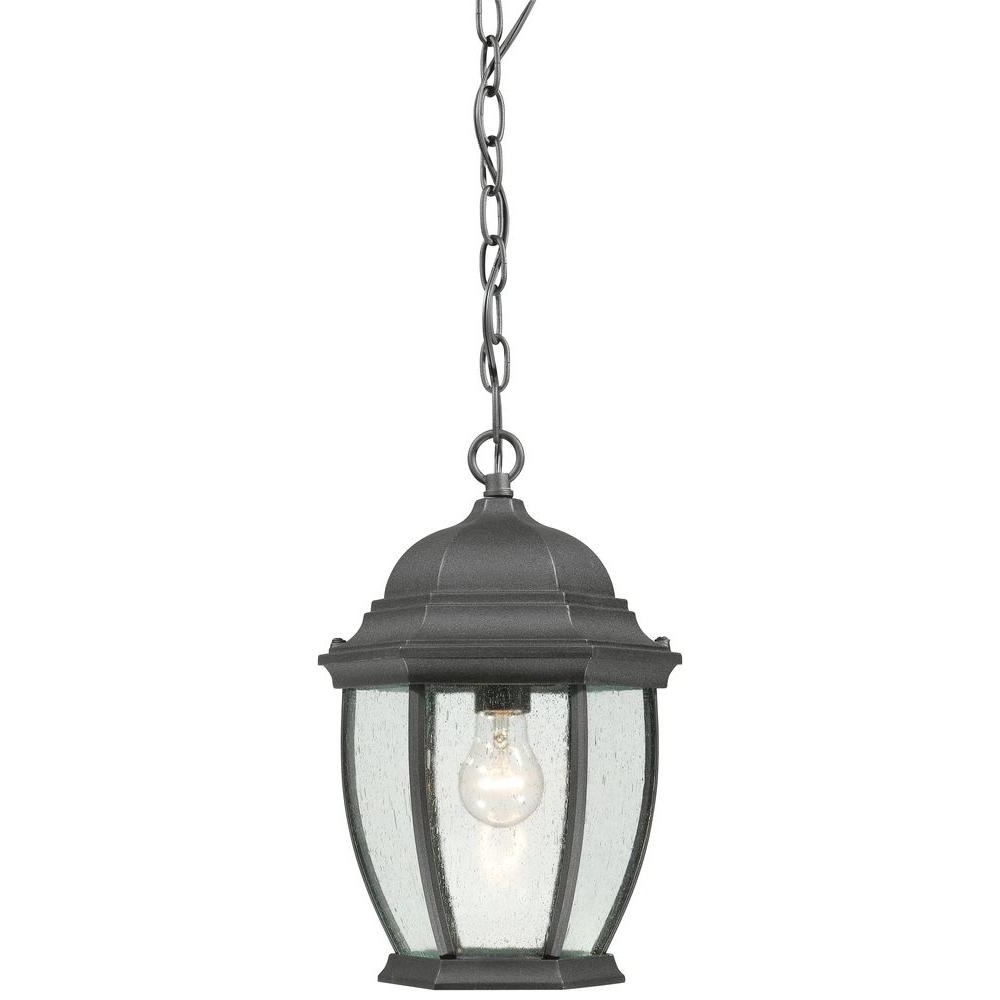 Outdoor Hanging Light Fixtures In Black With Well Known Thomas Lighting Covington 1 Light Hanging Outdoor Black Lantern (View 16 of 20)