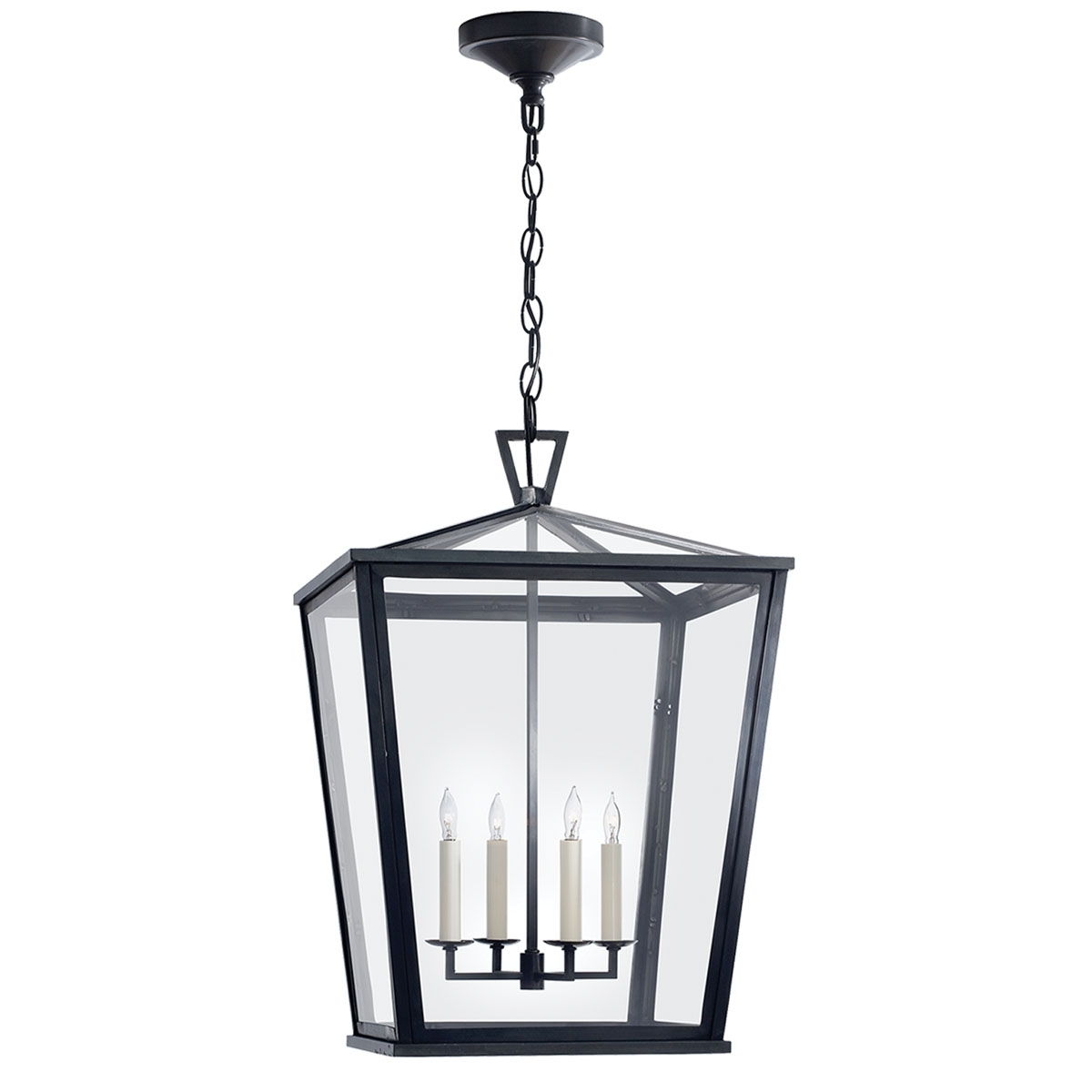 Outdoor Hanging Light In Black Throughout 2018 Visual Comfort Darlana Large Outdoor Hanging Lantern, Outdoor (View 6 of 20)