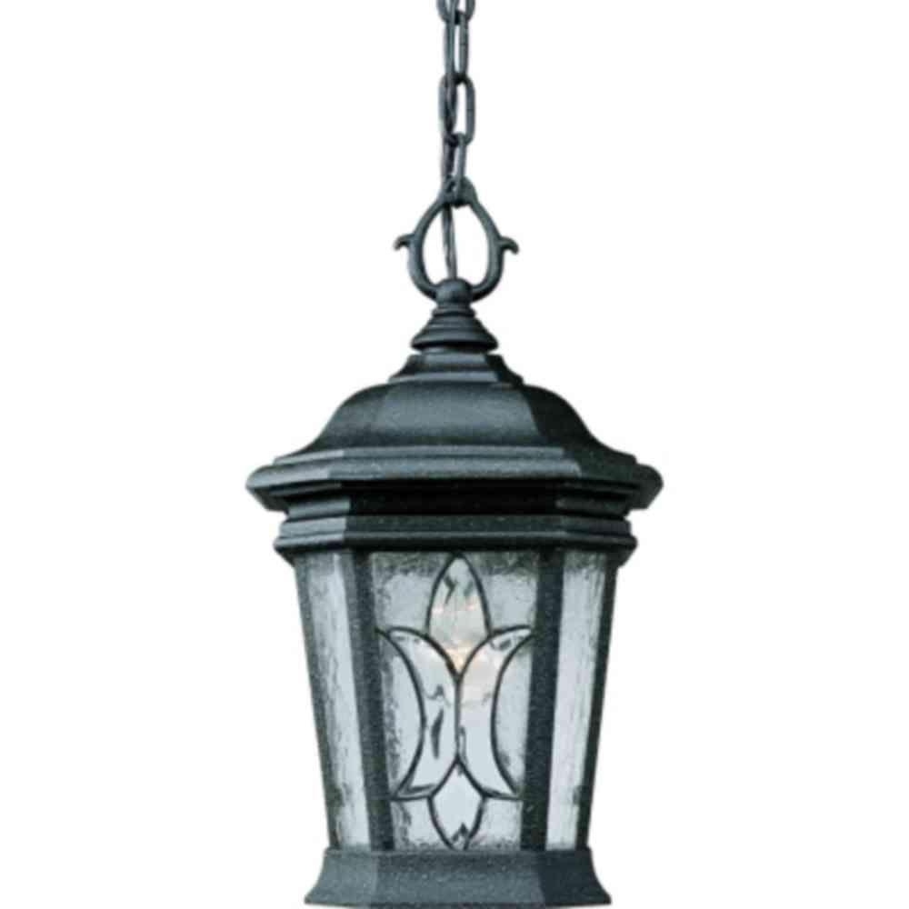 Outdoor Hanging Lighting Fixtures At Home Depot Inside Well Known Progress Lighting Cranbrook Collection 1 Light Gilded Iron Outdoor (View 10 of 20)