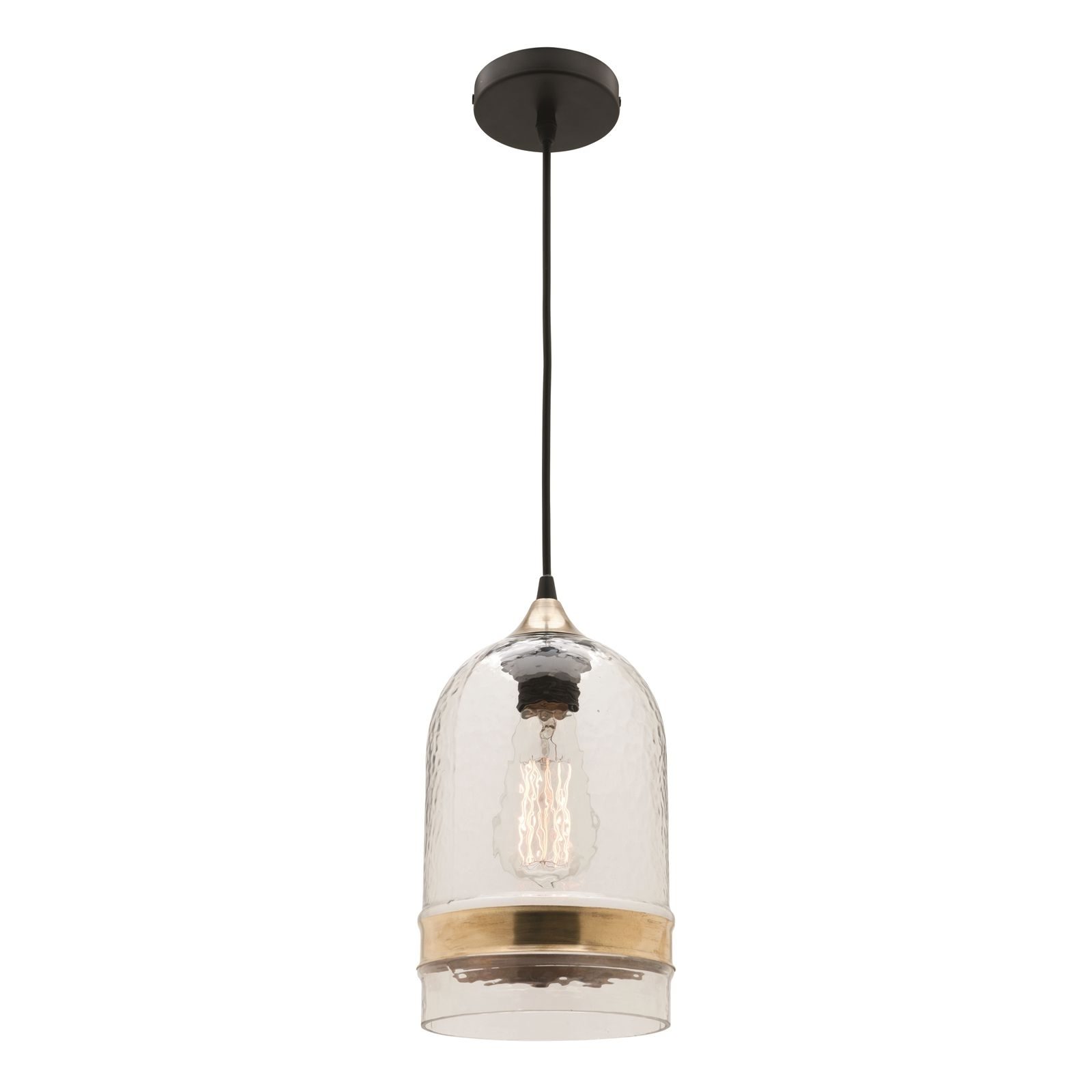 Outdoor Hanging Lights At Bunnings Throughout Most Up To Date Find Mercator 240v Glass And Brass Haven Pendant Light At Bunnings (View 10 of 20)