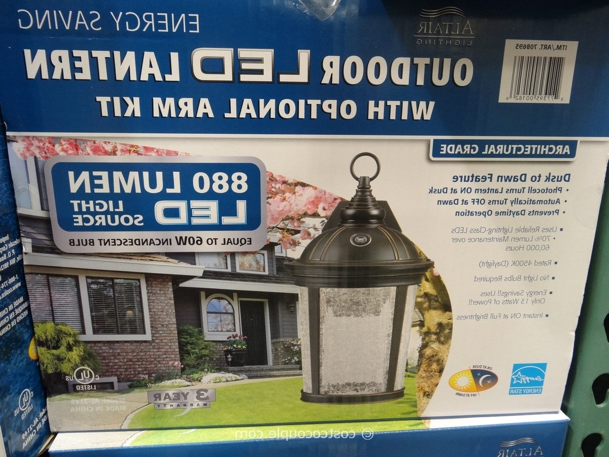Outdoor Hanging Lights At Costco Regarding Well Known Diy : Outdoor Led Lantern Solar Lights Costco Icicle Christmas (View 16 of 20)