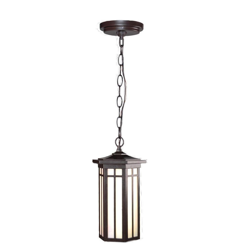 Outdoor Hanging Lights At Ebay Throughout Widely Used Home Decorators Collection Led Outdoor Hanging Antique Bronze Light (View 14 of 20)