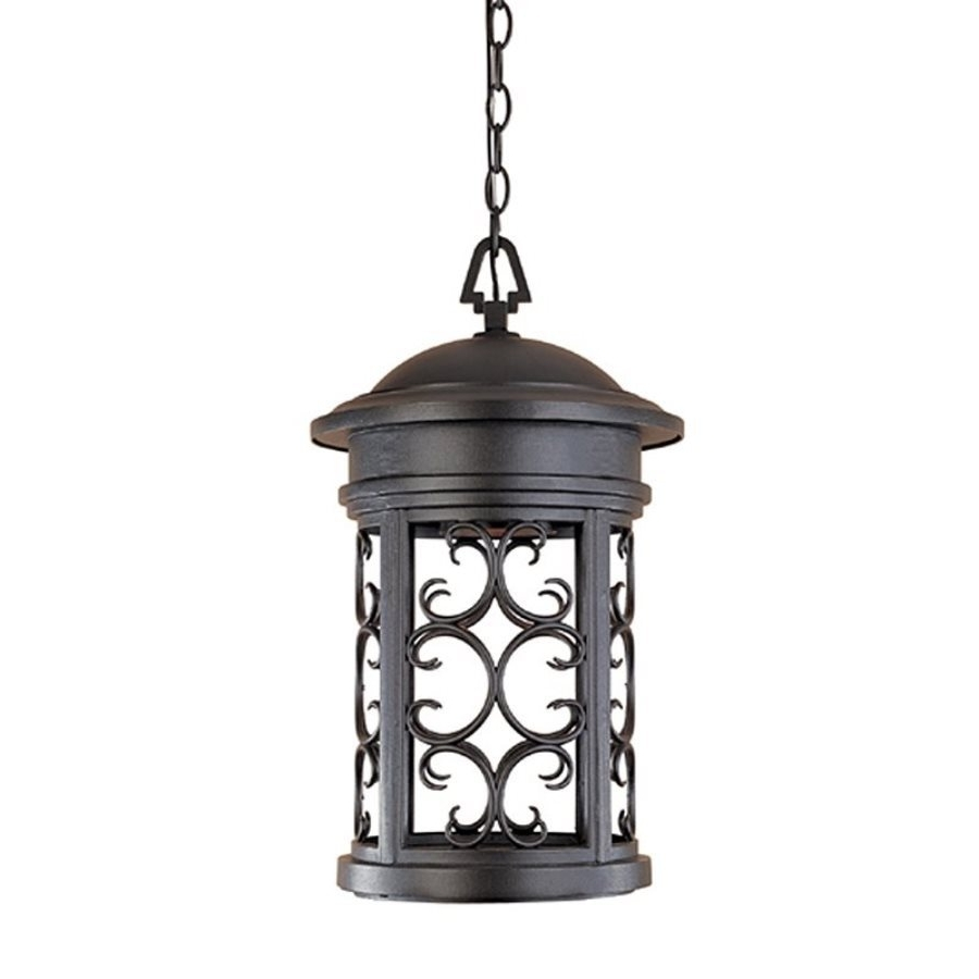 Outdoor Hanging Lights At Ebay Throughout Widely Used Shop Designer's Fountain Ellington 19 In Oil Rubbed Bronze Hardwired (View 15 of 20)