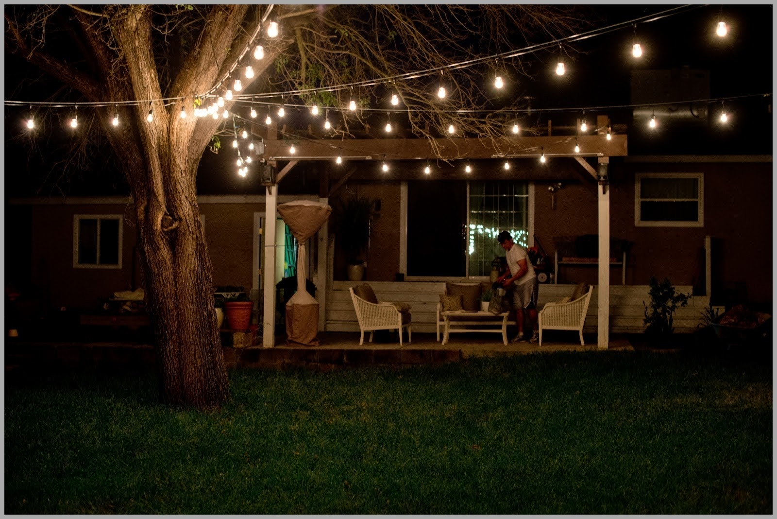 Outdoor Hanging Lights At Target Within Best And Newest Lighting : Jaw Dropping Beautiful Yard And Patio String Lighting (View 15 of 20)