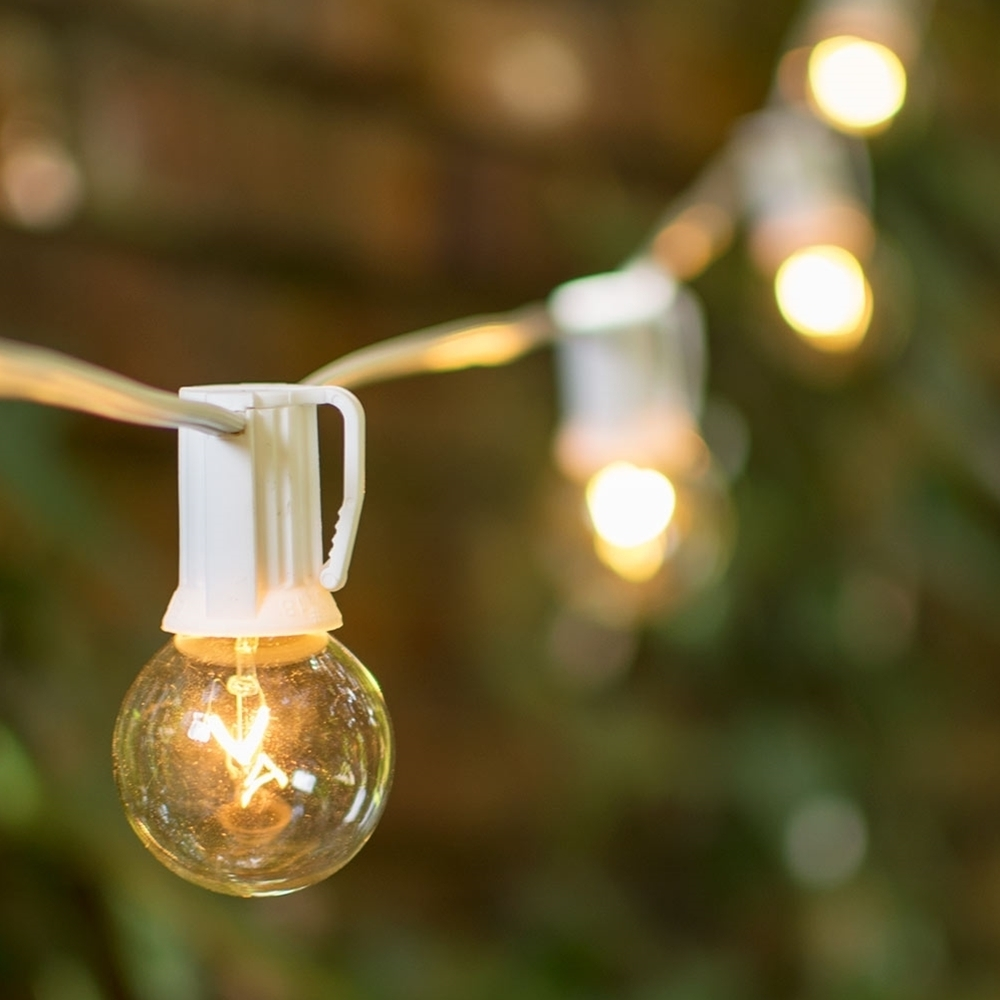 Outdoor Hanging Lights Bulbs Pertaining To Preferred Outdoor : Winsome Patio String Lights Idea Candelabra Socket Base (View 17 of 20)