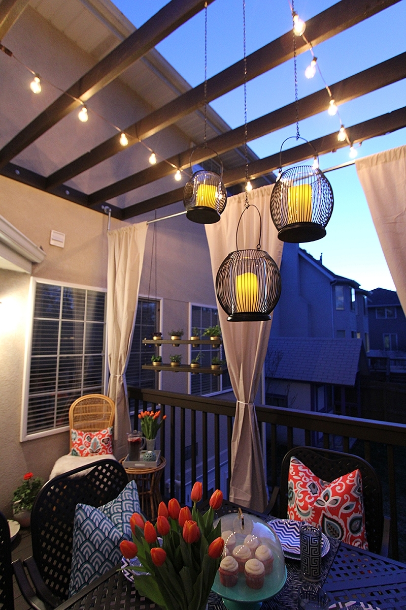 Outdoor Hanging Lights For Patio Intended For Most Recent Cage Large Outdoor Hanging Pendant Lights In A Patio – Artenzo (View 19 of 20)