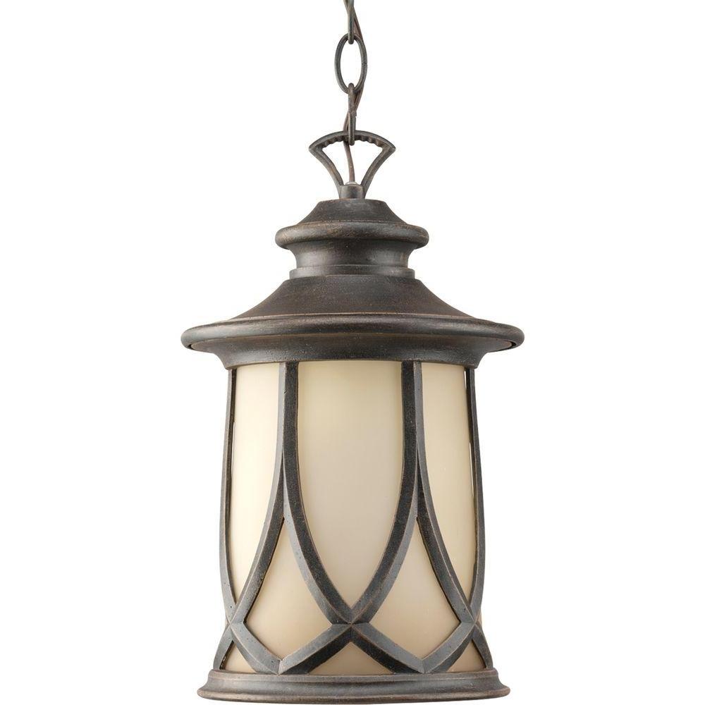 Outdoor Hanging Lights Regarding Newest Progress Lighting Resort Collection 1 Light Aged Copper Outdoor (View 13 of 20)