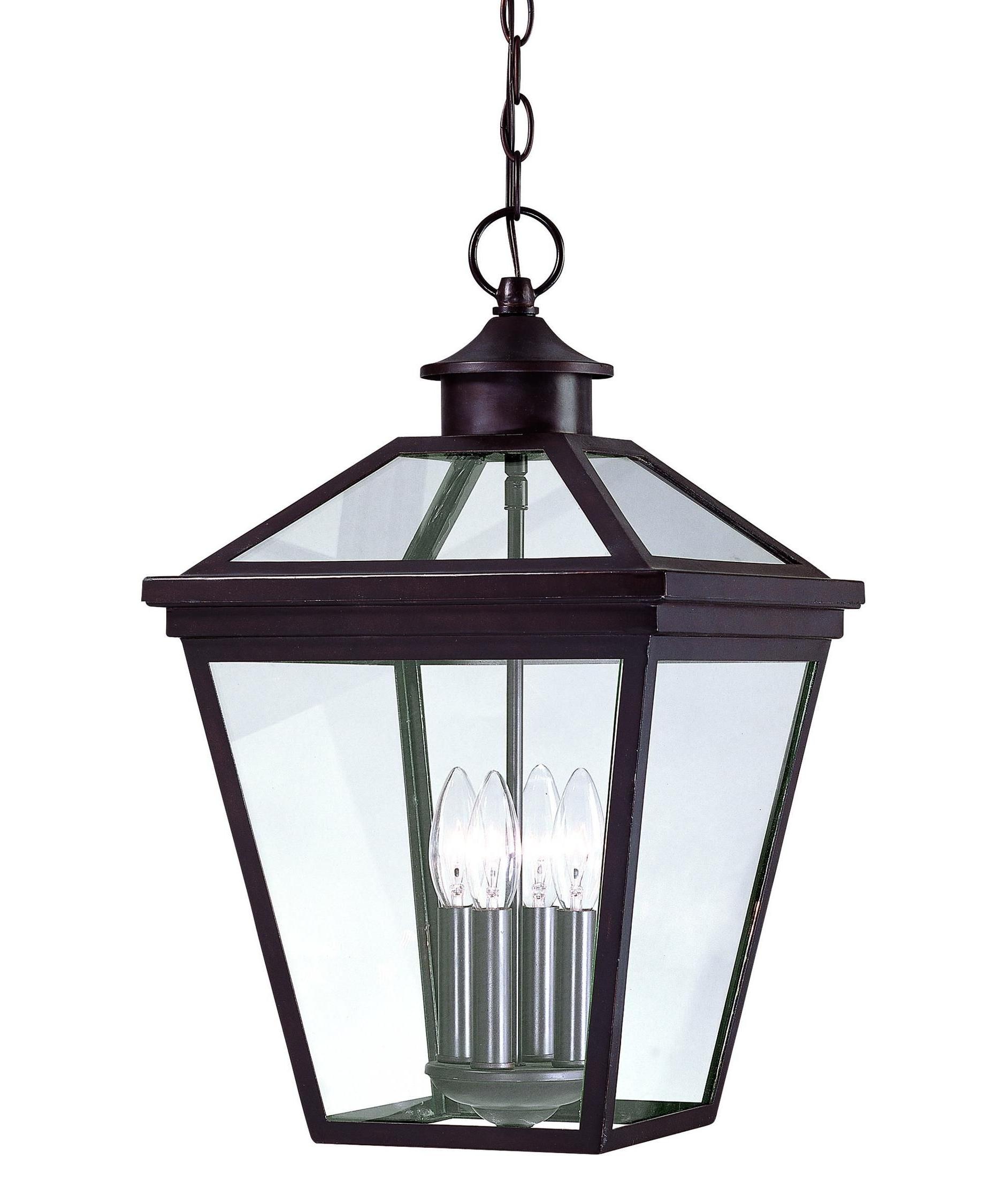 Outdoor Hanging Lights Regarding Trendy Savoy House Ellijay 4 Light Outdoor Hanging Lantern (View 14 of 20)
