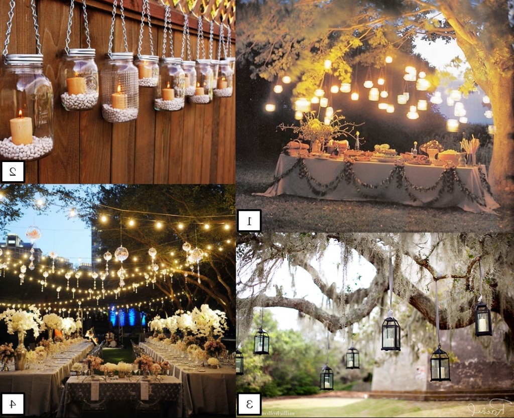 Outdoor Hanging Mason Jar Lights With Regard To Recent Abbey Road Weddings » Hanging Wedding Lights (View 10 of 20)