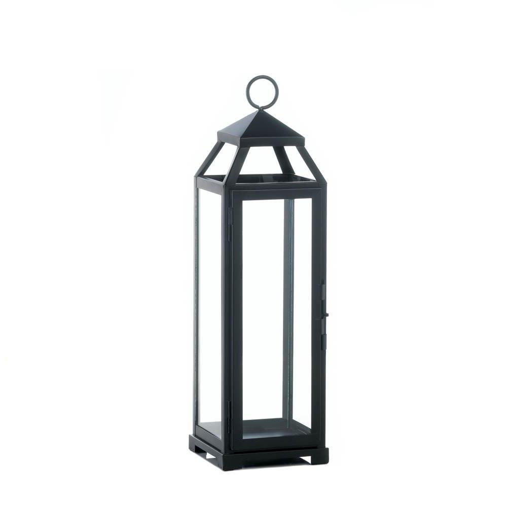 Outdoor Hanging Metal Lanterns In Newest Outdoor Lanterns, Large Lean Sleek Metal Decorative Floor Patio (View 13 of 20)