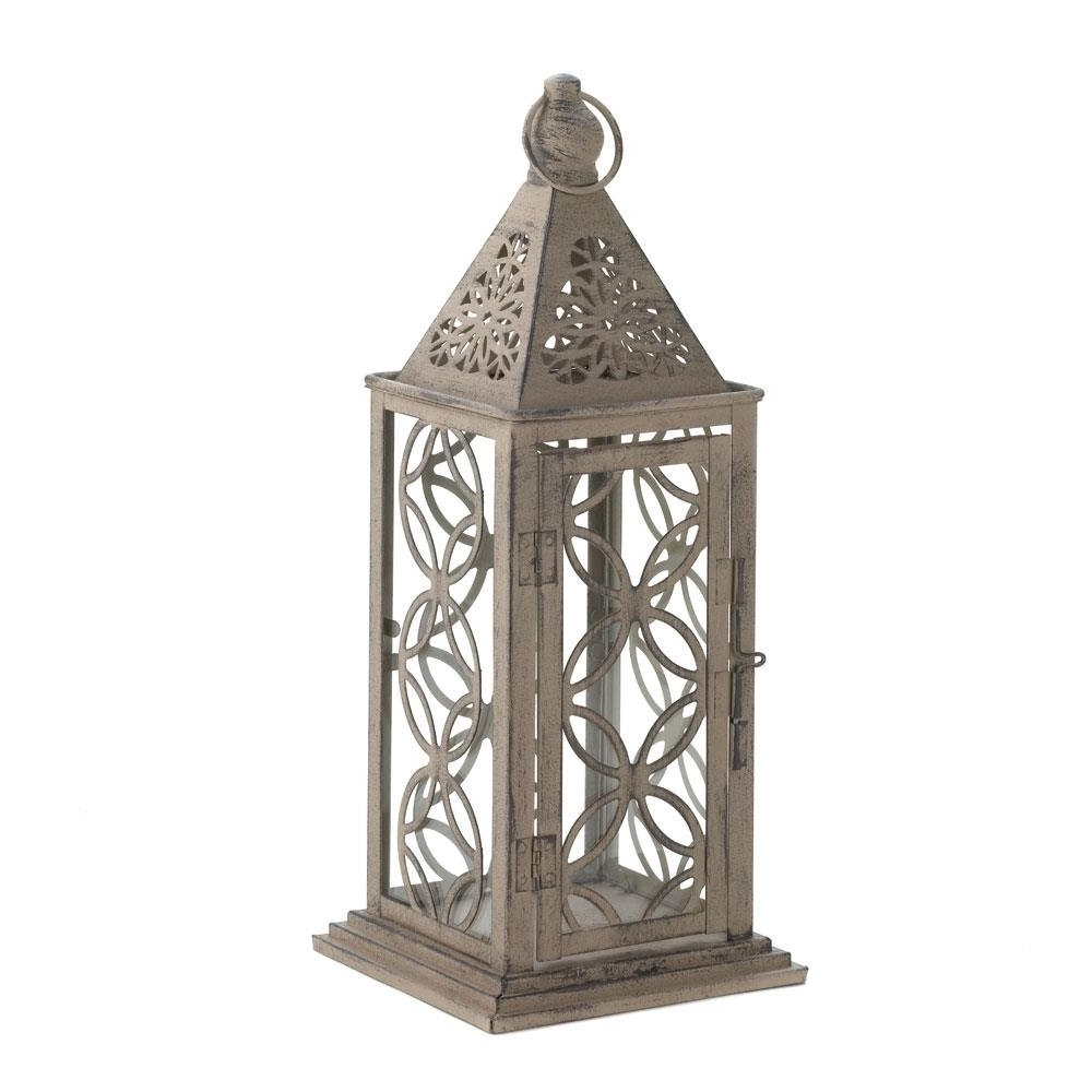 Outdoor Hanging Metal Lanterns Inside Most Recent Hanging Lanterns, Small Eclipse Metal Decorative Patio Rustic (View 12 of 20)