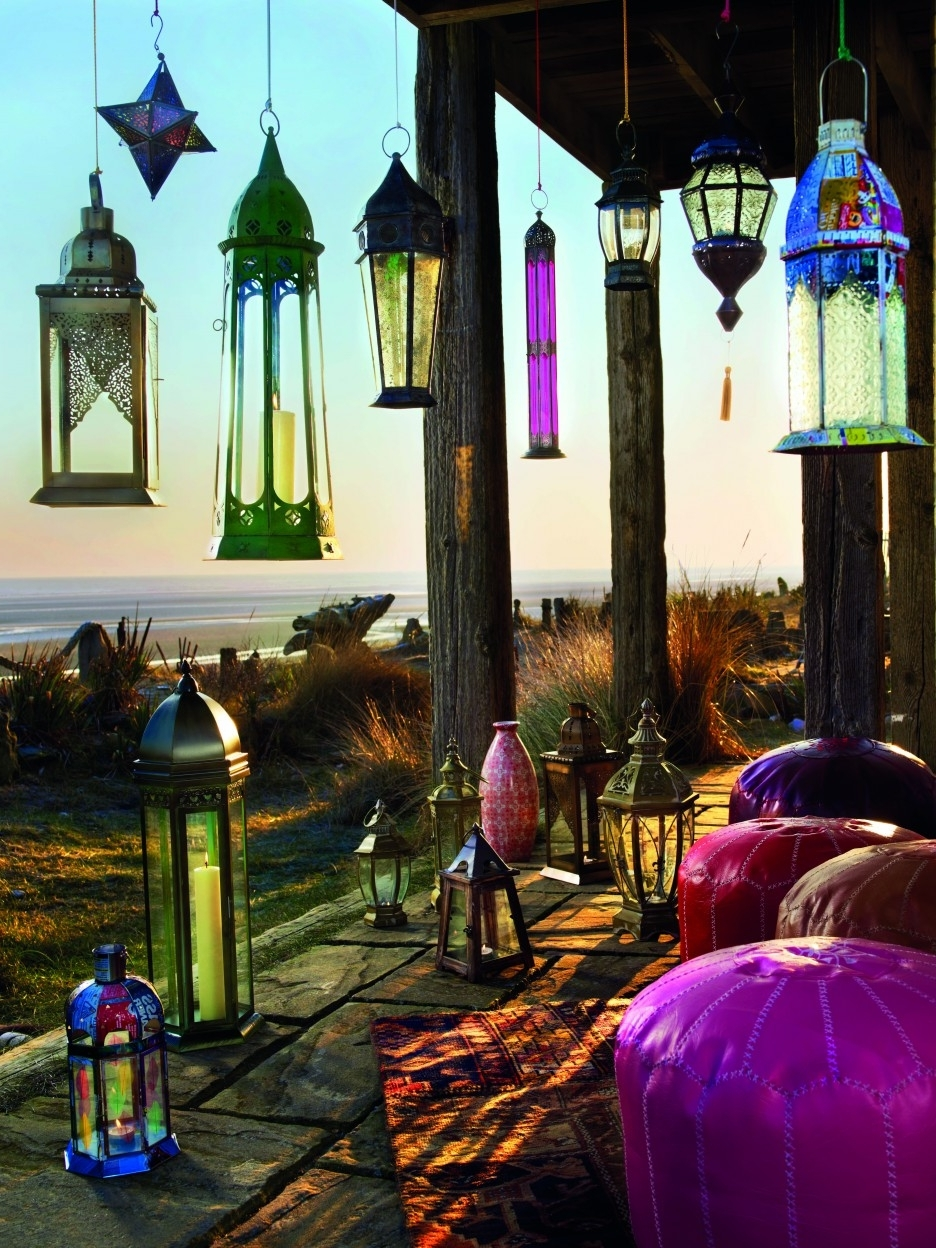 Outdoor Hanging Moroccan Lanterns Intended For Famous Amazing Home Outdoor Lamp Deco Showcasing Inspiring Hanging Moroccan (View 16 of 20)