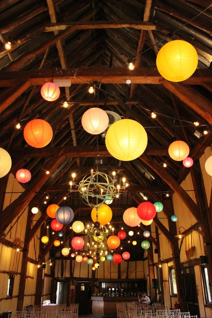 Featured Photo of Outdoor Hanging Nylon Lanterns