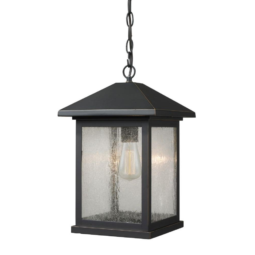 Outdoor Hanging Oil Lanterns In Current Filament Design Malone 1 Light Oil Rubbed Bronze Outdoor Hanging (View 12 of 20)