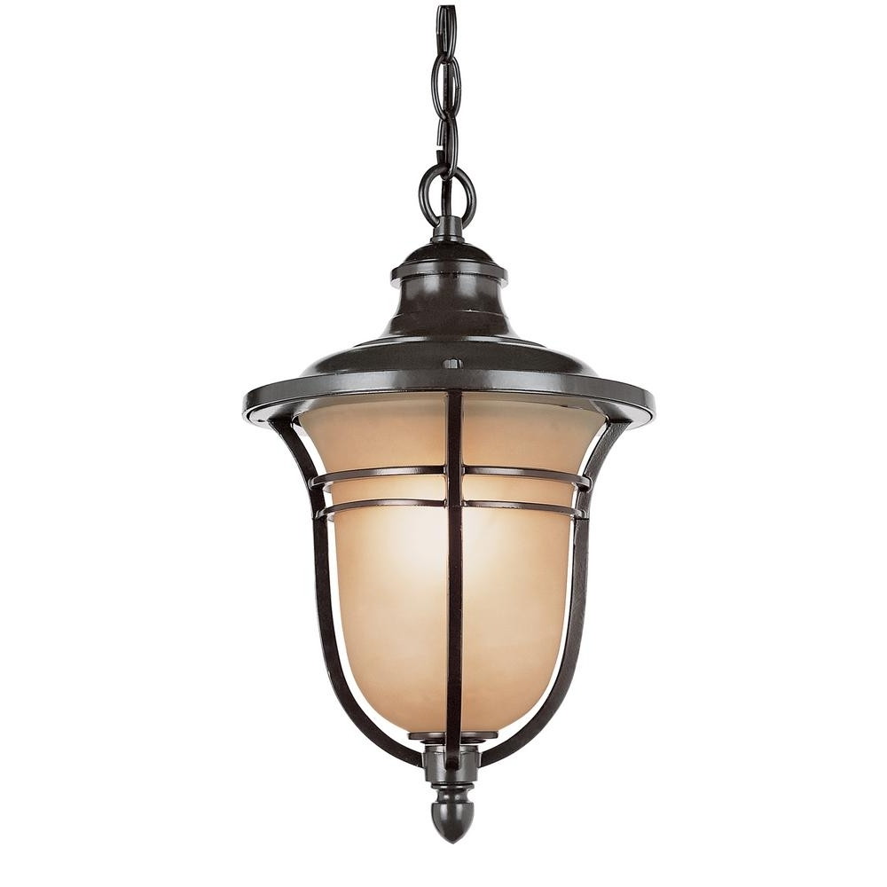 Outdoor Hanging Oil Lanterns Regarding Famous Bel Air Lighting 1 Light Rubbed Oil Bronze Outdoor Hanging Lantern (View 14 of 20)