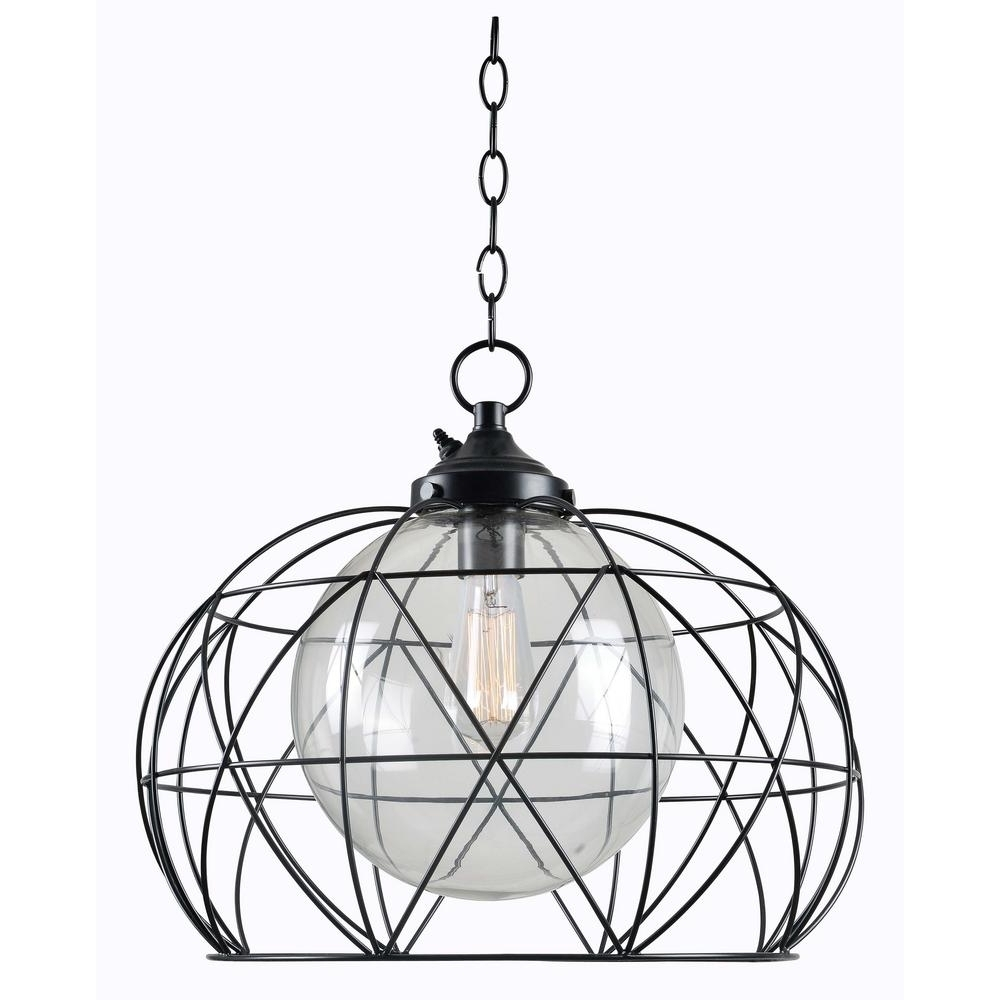 Outdoor Hanging Orb Lights For Most Up To Date Kenroy Home Cavea Bronze 1 Light Outdoor Hanging Pendant 93665Orb (View 11 of 20)