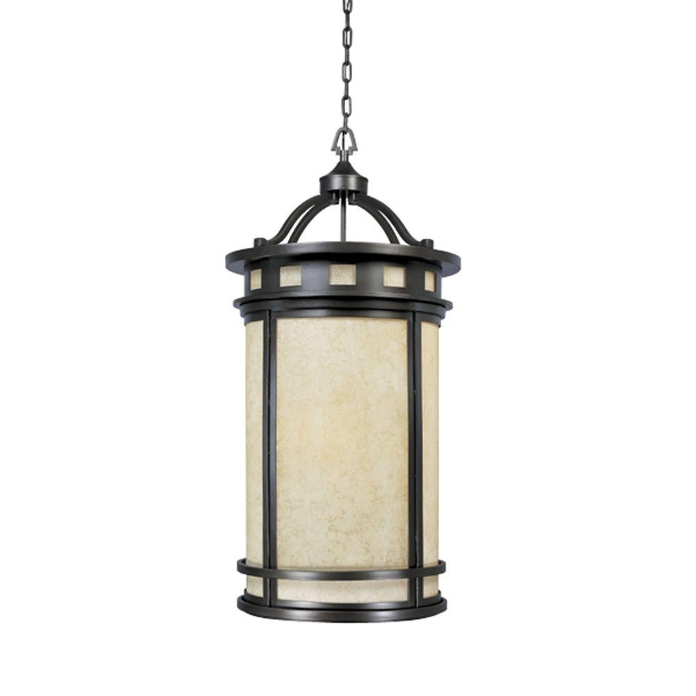 Outdoor Hanging Orb Lights Regarding Widely Used Designers Fountain Mesa Collection 4 Light Oil Rubbed Bronze Outdoor (View 18 of 20)