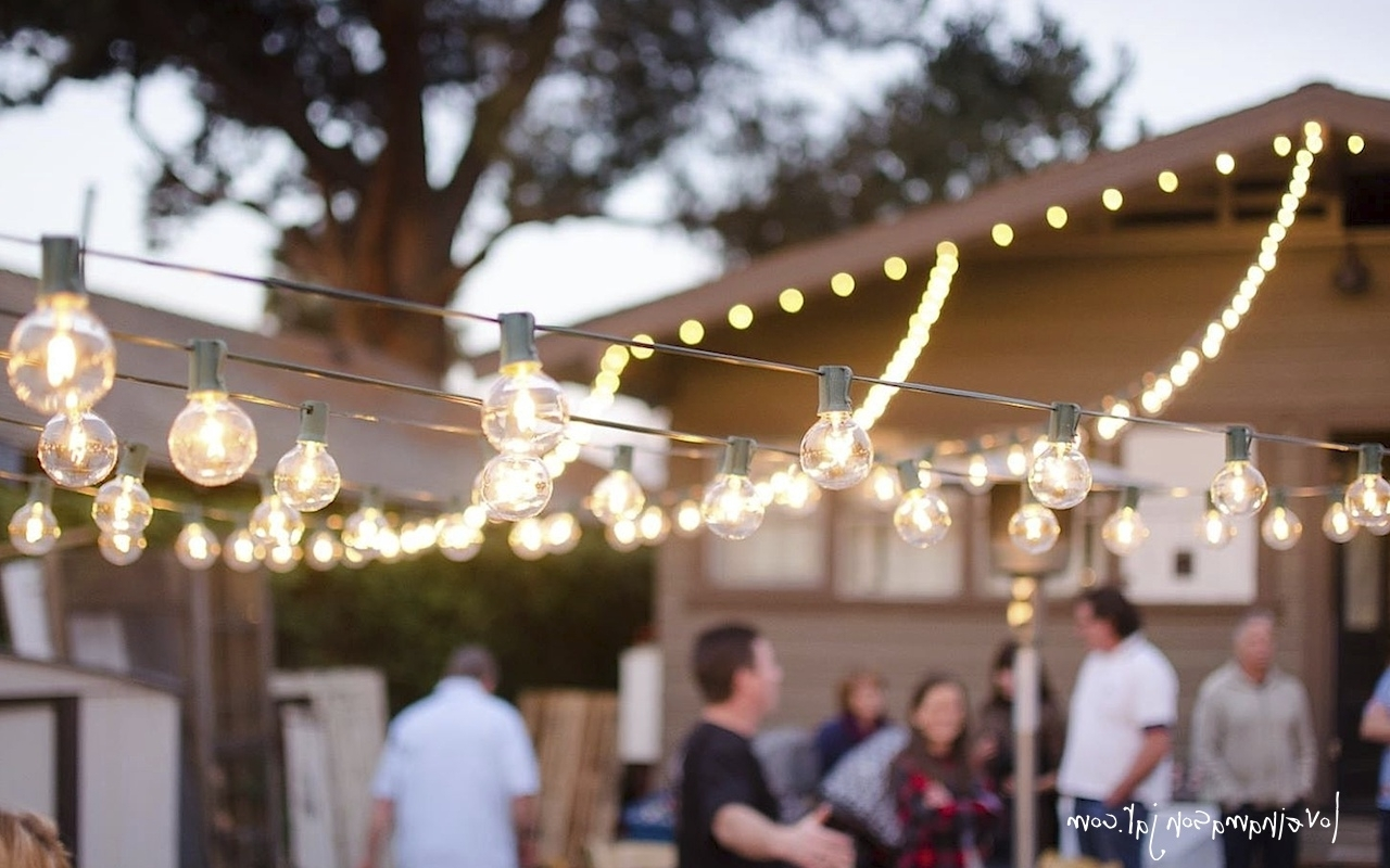 Outdoor Hanging Party Lights With Regard To Widely Used Party Decor (View 16 of 20)