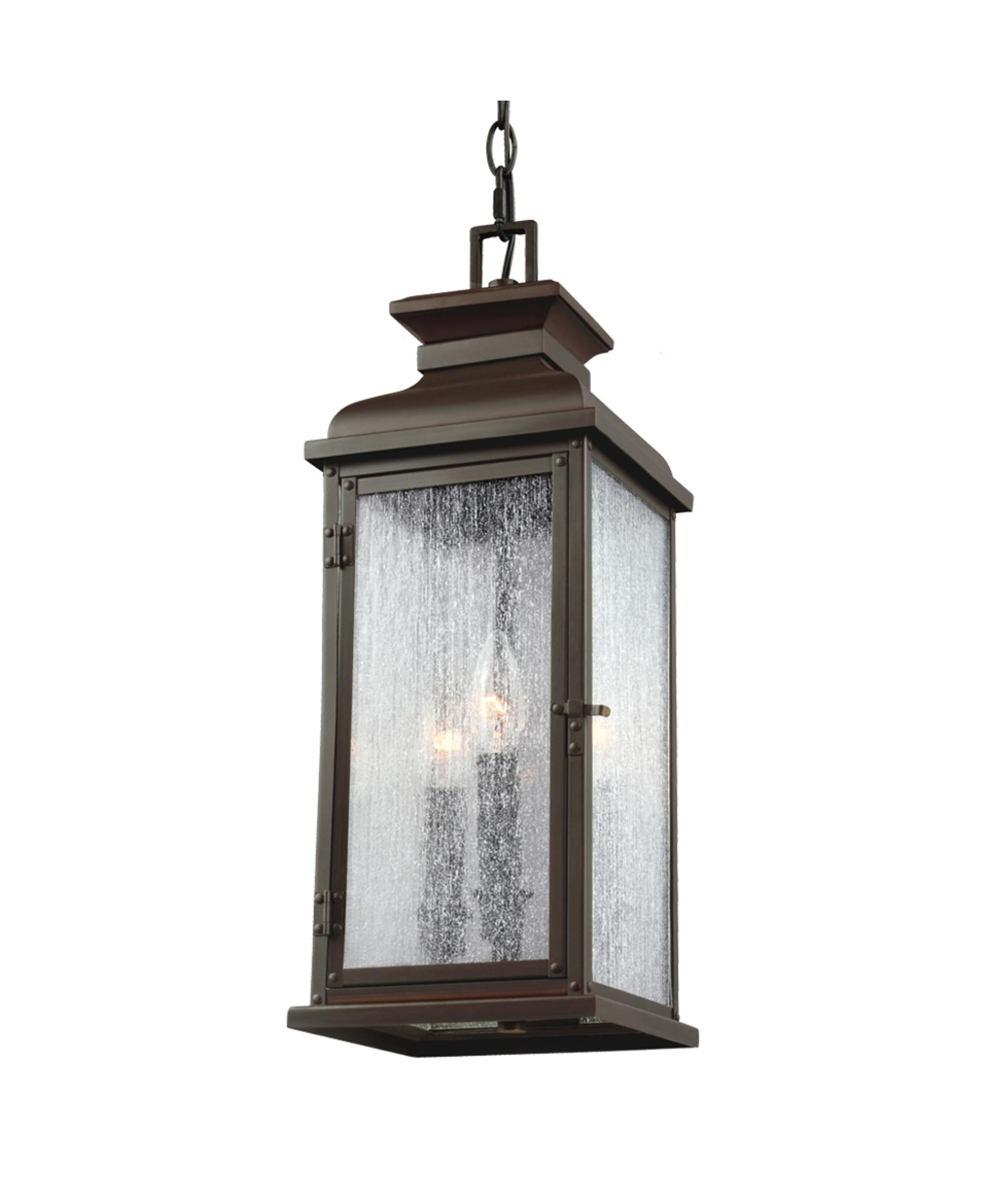 Outdoor Hanging Patio Lanterns Regarding Most Current Murray Feiss Ol11109 Pediment 7 Inch Wide 2 Light Outdoor Hanging (View 9 of 20)