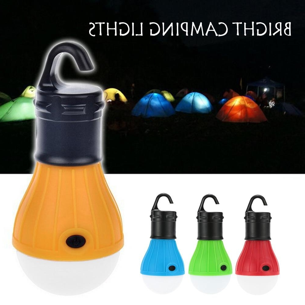 Outdoor Hanging Plastic Lanterns Throughout Current Led Camping Tent Soft Light Lamp Outdoor Hanging Led Camping Lantern (View 15 of 20)