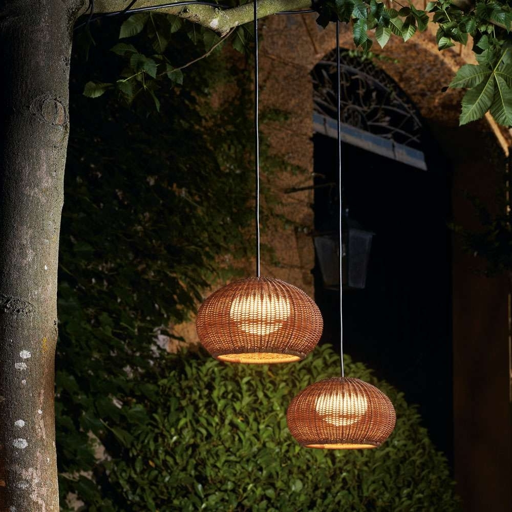 Outdoor Hanging Plug In Lights Inside Most Current Garota Outdoor Plug In Pendant Lightbover (View 15 of 20)