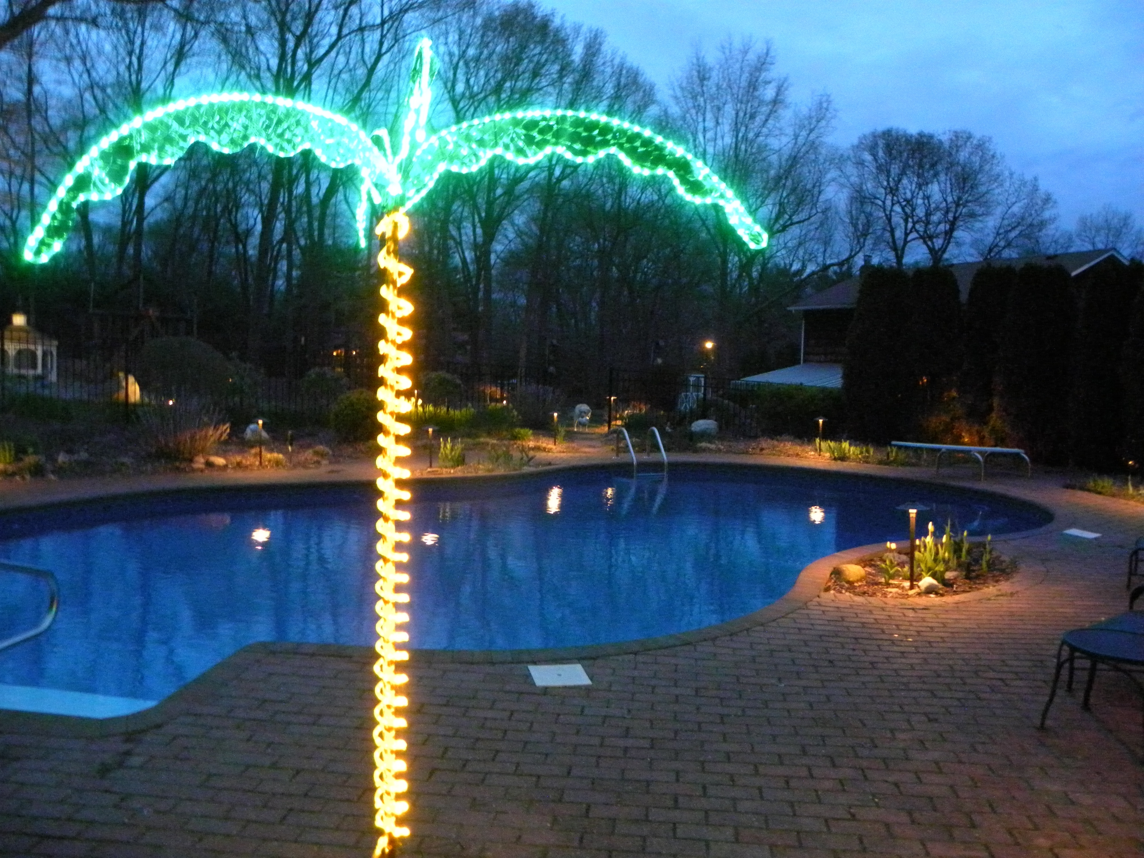 Outdoor Hanging Pool Lights Intended For Preferred Lighting Ideas: Outdoor Lighting Ideas Of Bulbs String Lights Over (View 11 of 20)