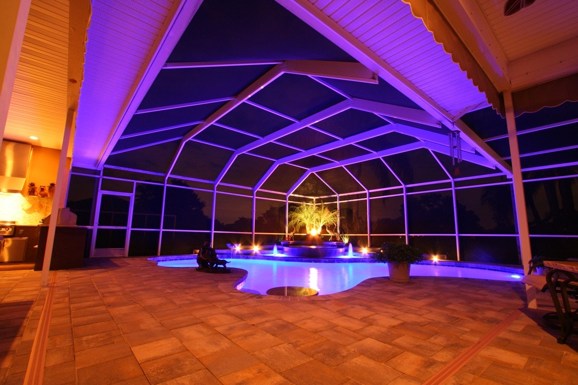 Outdoor Hanging Pool Lights Throughout Trendy Nebula Lighting Systems – Rail Light System (View 12 of 20)