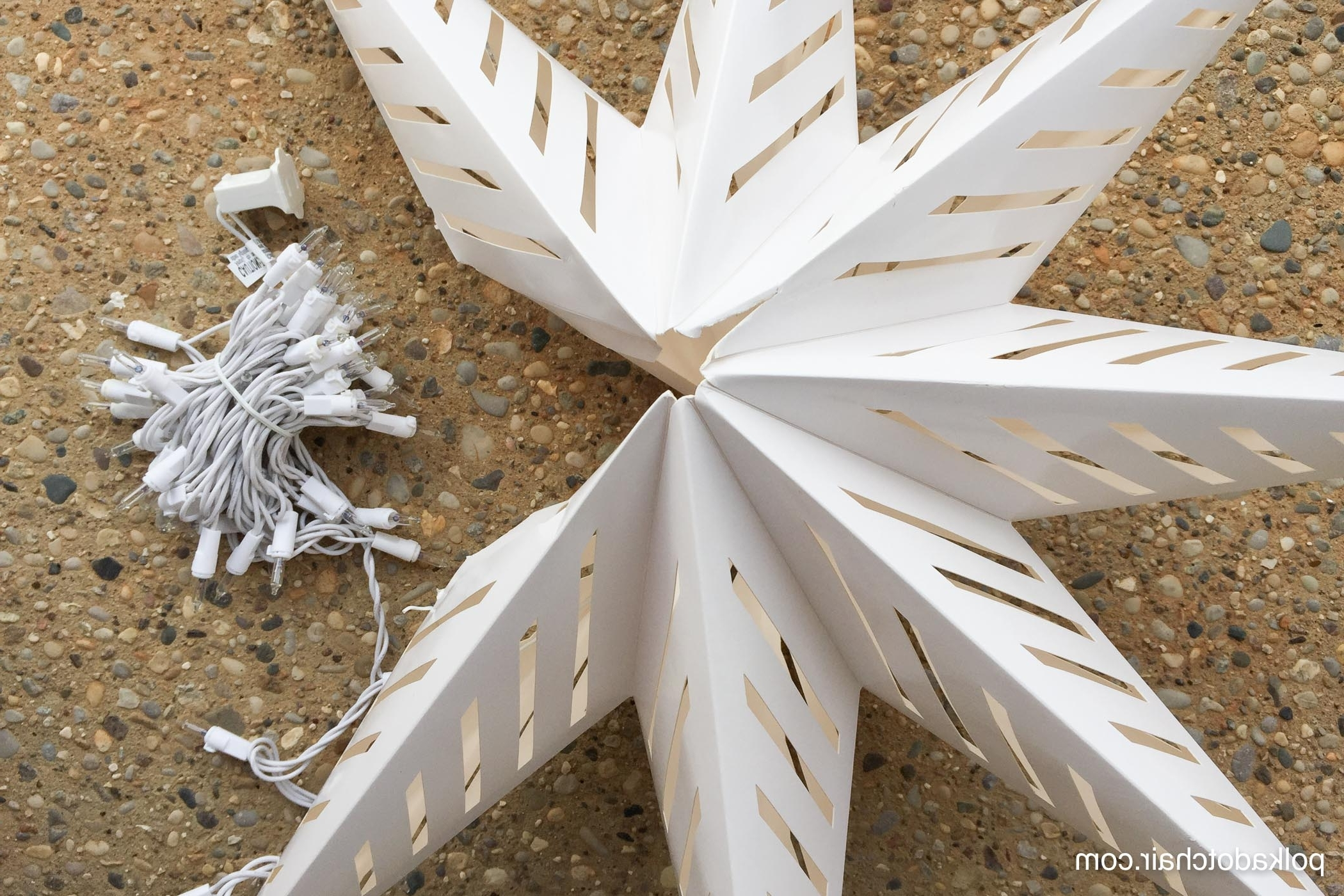 Outdoor Hanging Star Lanterns With Regard To 2019 Hanging Star Lanterns; A Christmas Front Porch Decorating Idea – The (View 11 of 20)