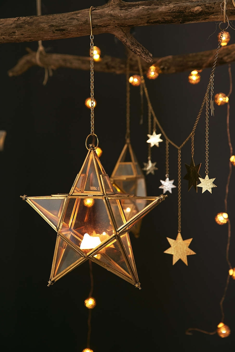 Outdoor Hanging Star Lanterns Within Well Known Hanging Star Terrarium (View 7 of 20)