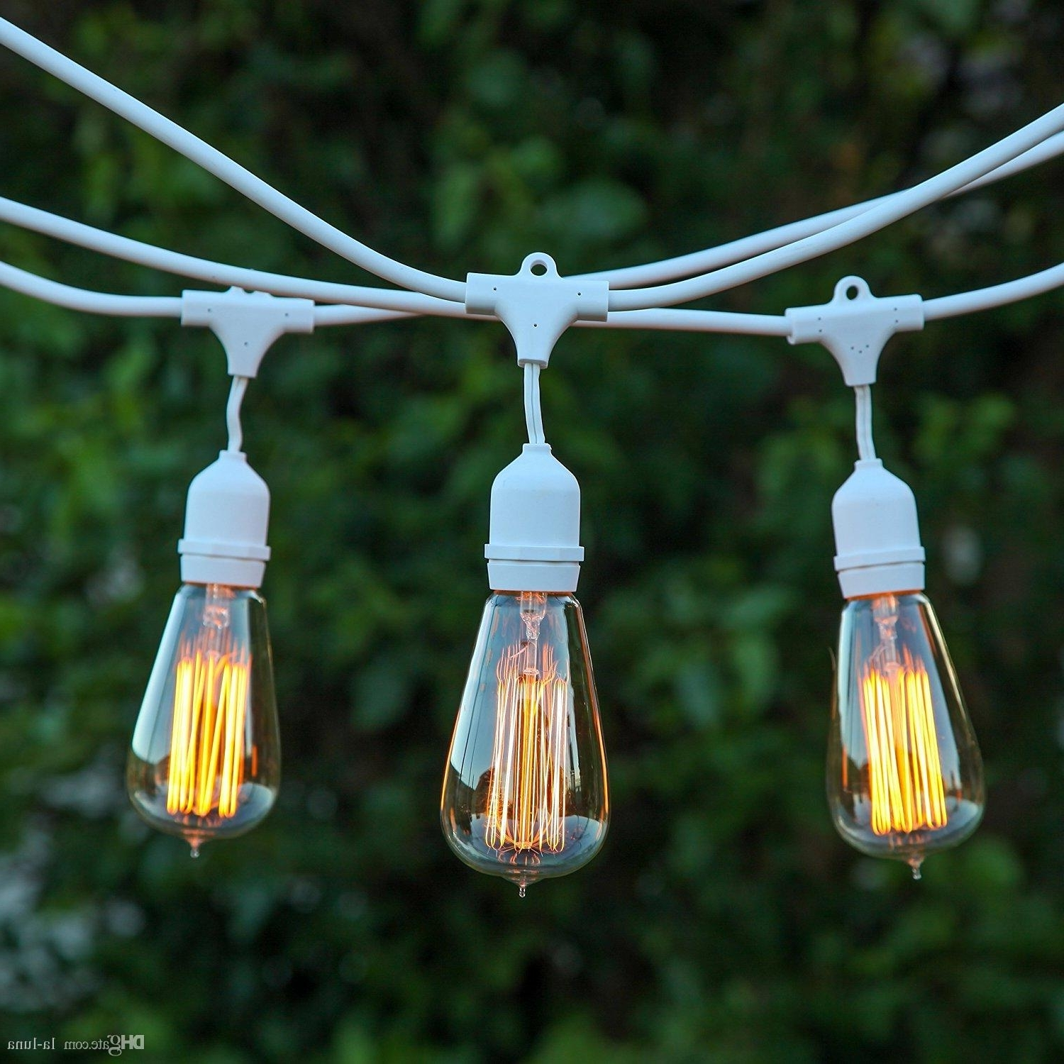 Outdoor Hanging String Light Bulbs With Regard To Popular Dhl Outdoor Led Christmas Lights 30Ft Outdoor Weatherproof (View 13 of 20)