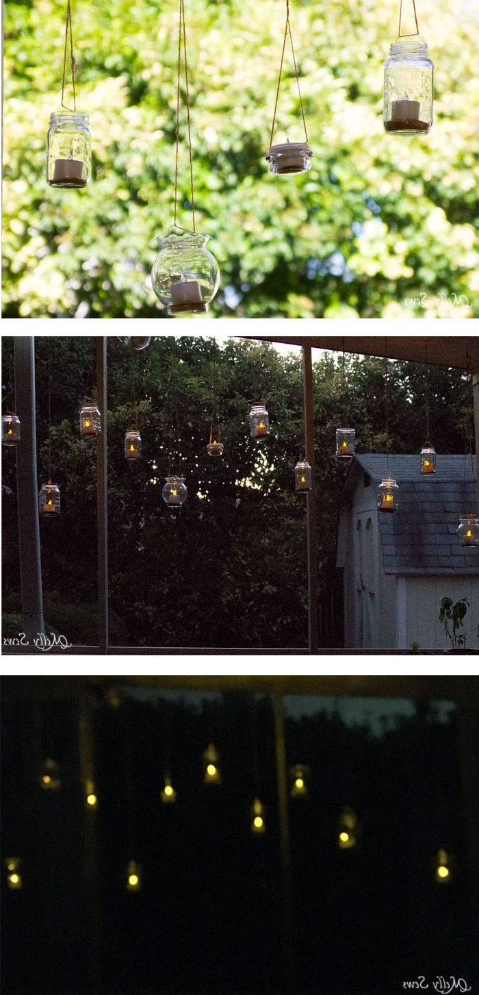 Outdoor Hanging Tea Lights With Regard To Recent Hanging Solar Tea Lights – Melly Sews (View 17 of 20)