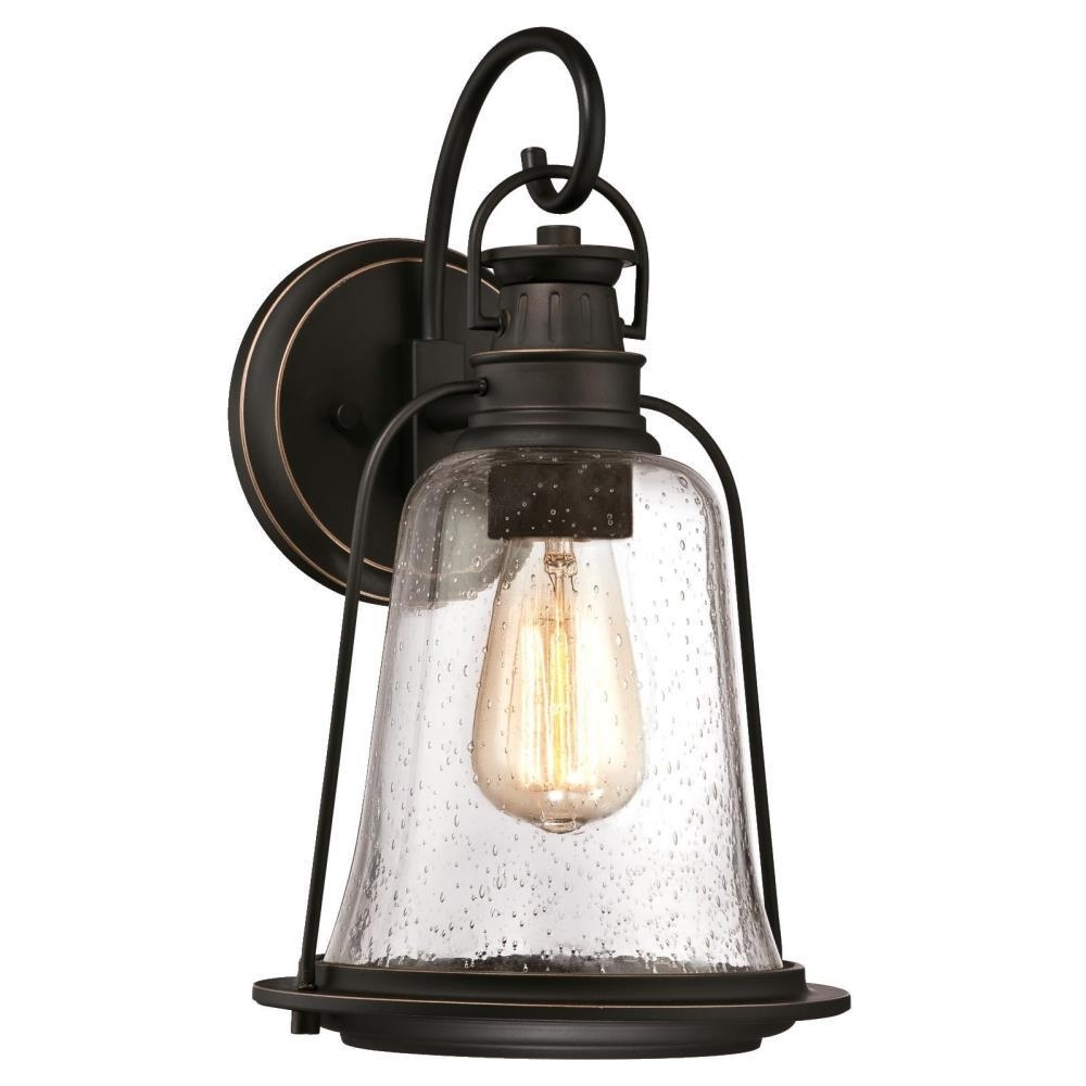 Outdoor Hanging Wall Lanterns Inside Widely Used Westinghouse Brynn 1 Light Oil Rubbed Bronze With Highlights Outdoor (View 11 of 20)