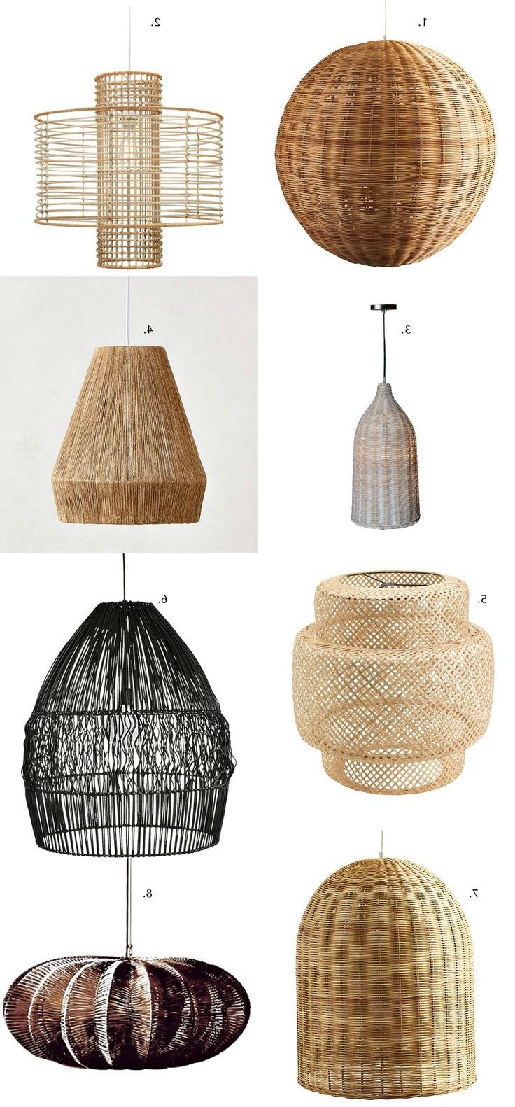 Outdoor Hanging Wicker Lights With Most Popular 32 Great Good Wicker Pendant Light Nz Rattan Fixtures Au White (View 12 of 20)