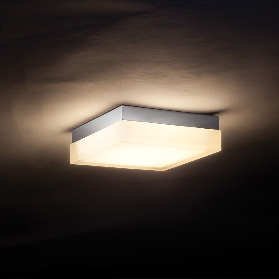 Outdoor Led Porch Ceiling Lights Intended For Well Known Interior,cool Awesome Square Ceiling Mount Light Design Ideas With (View 13 of 20)