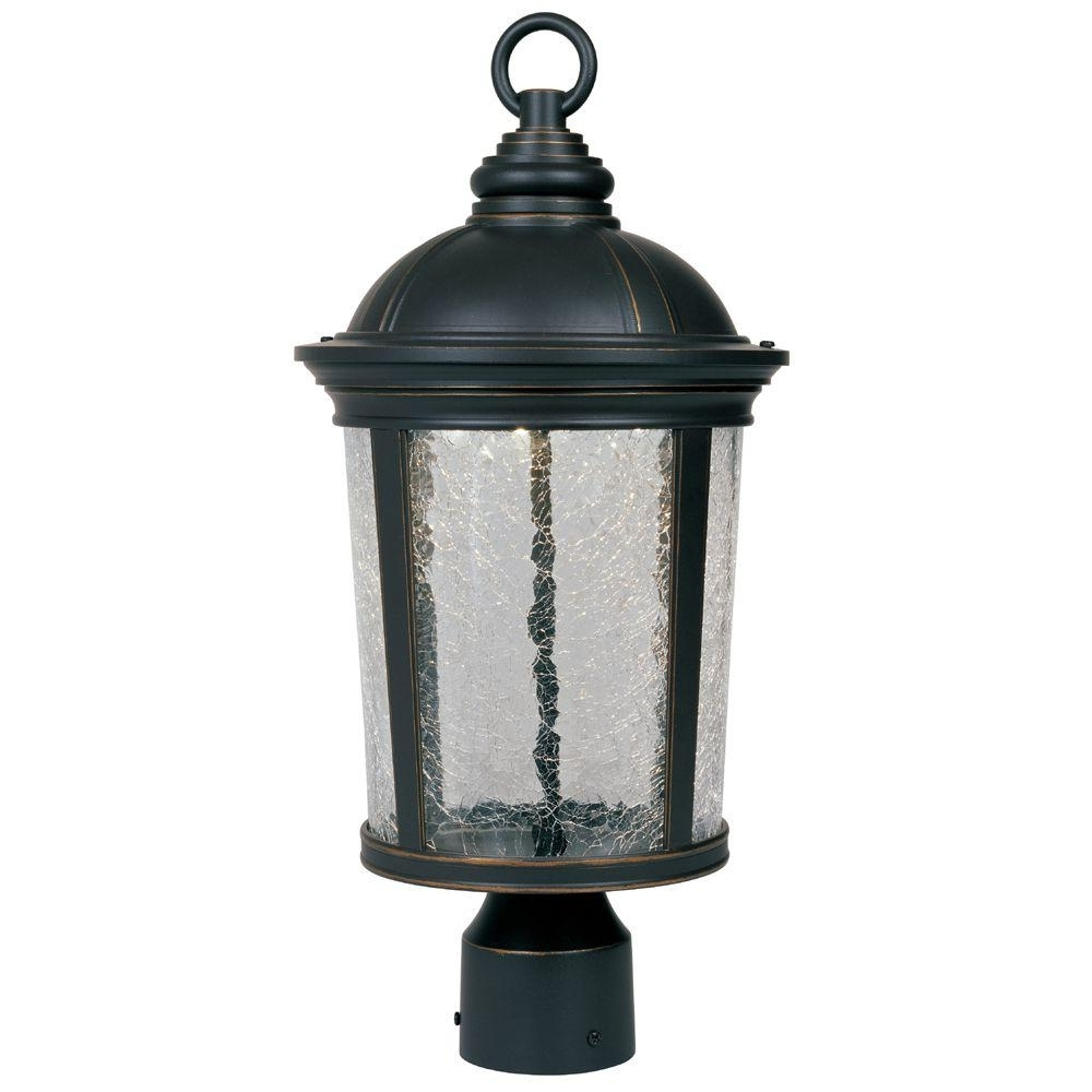Outdoor Led Post Lights Fixtures Pertaining To Latest Designers Fountain Winston Aged Bronze Patina Outdoor Led Post (View 18 of 20)