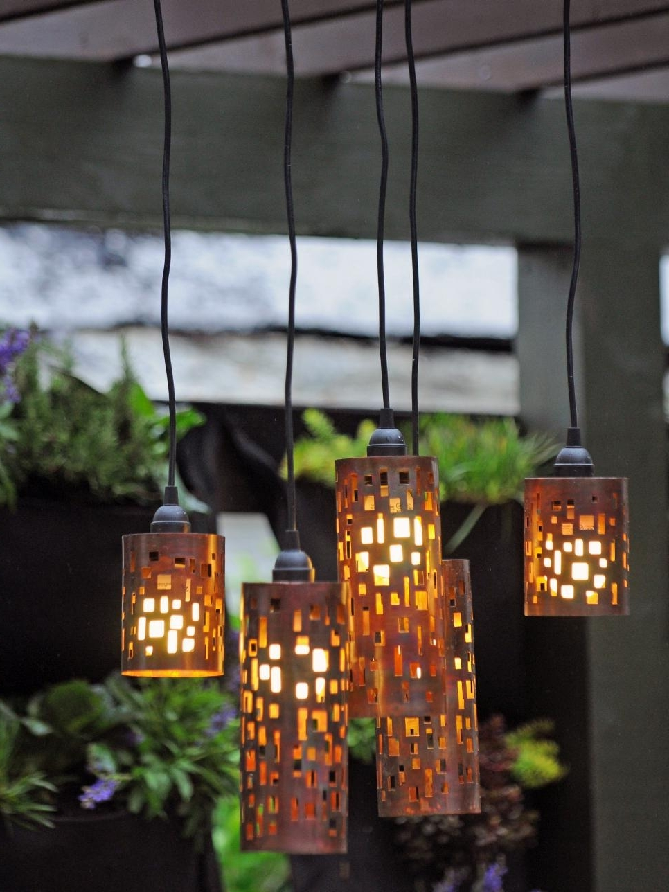 Outdoor Lighting: Amusing Outdoor Hanging Lights Patio How To Hang Regarding Most Popular Homemade Outdoor Hanging Lights (View 6 of 20)