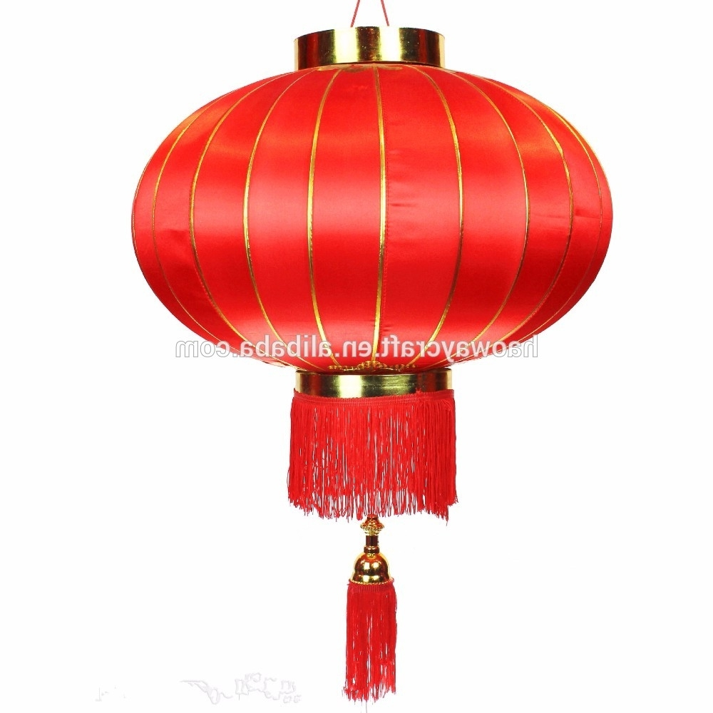 Outdoor Personalized Chinese Silk Red Lanterns Antique Hanging Within Fashionable Outdoor Hanging Chinese Lanterns (View 13 of 20)