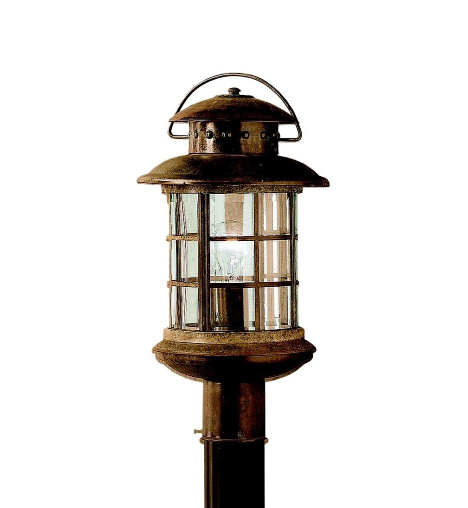 Outdoor Post Lights Kichler Lighting Regarding Favorite Kichler – 9962Rst – Rustic Rustic  (View 13 of 20)