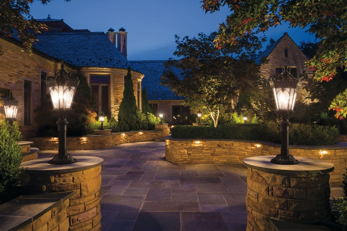 Outdoor Post Mt 4Lt Ld Pertaining To Popular Kichler Outdoor Landscape Lighting (View 18 of 20)