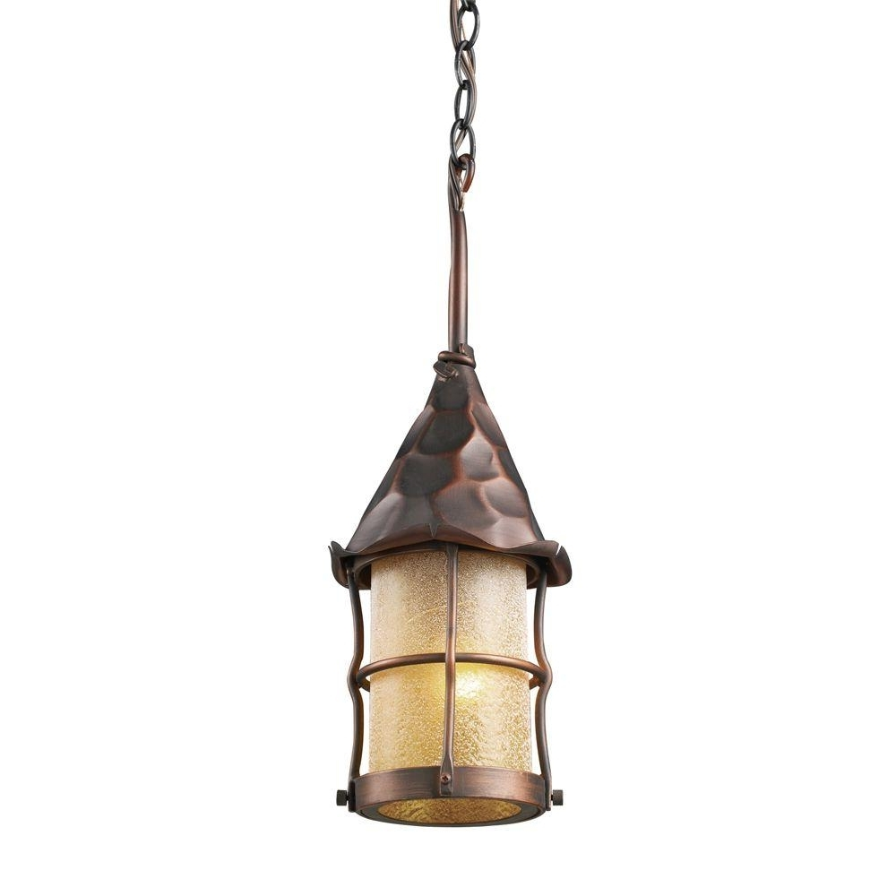 Outdoor Rated Hanging Lights Inside Most Up To Date Titan Lighting Rustica 1 Light Antique Copper Outdoor Ceiling Mount (View 19 of 20)